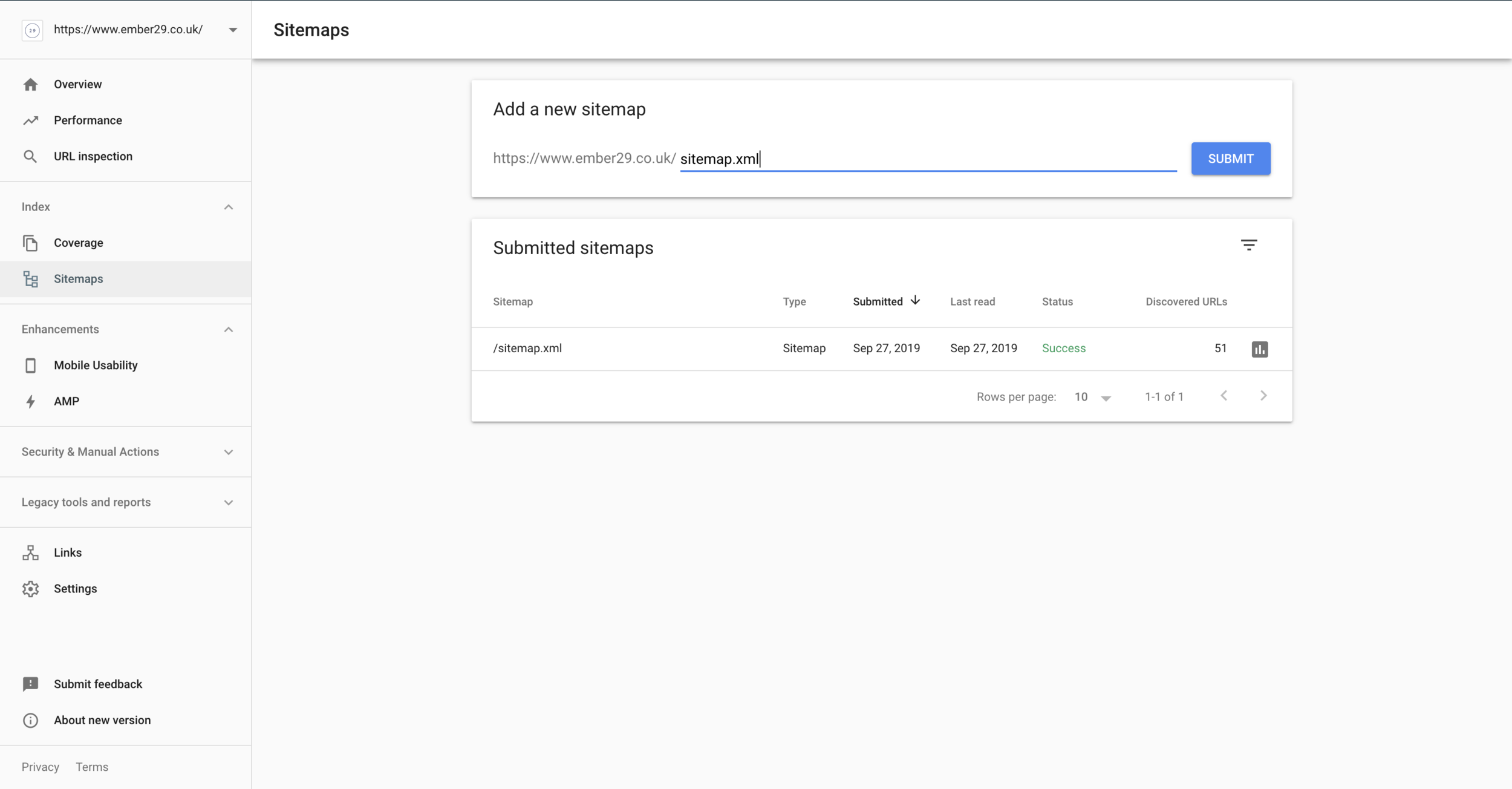 how to add a squarespace sitemap to google search console