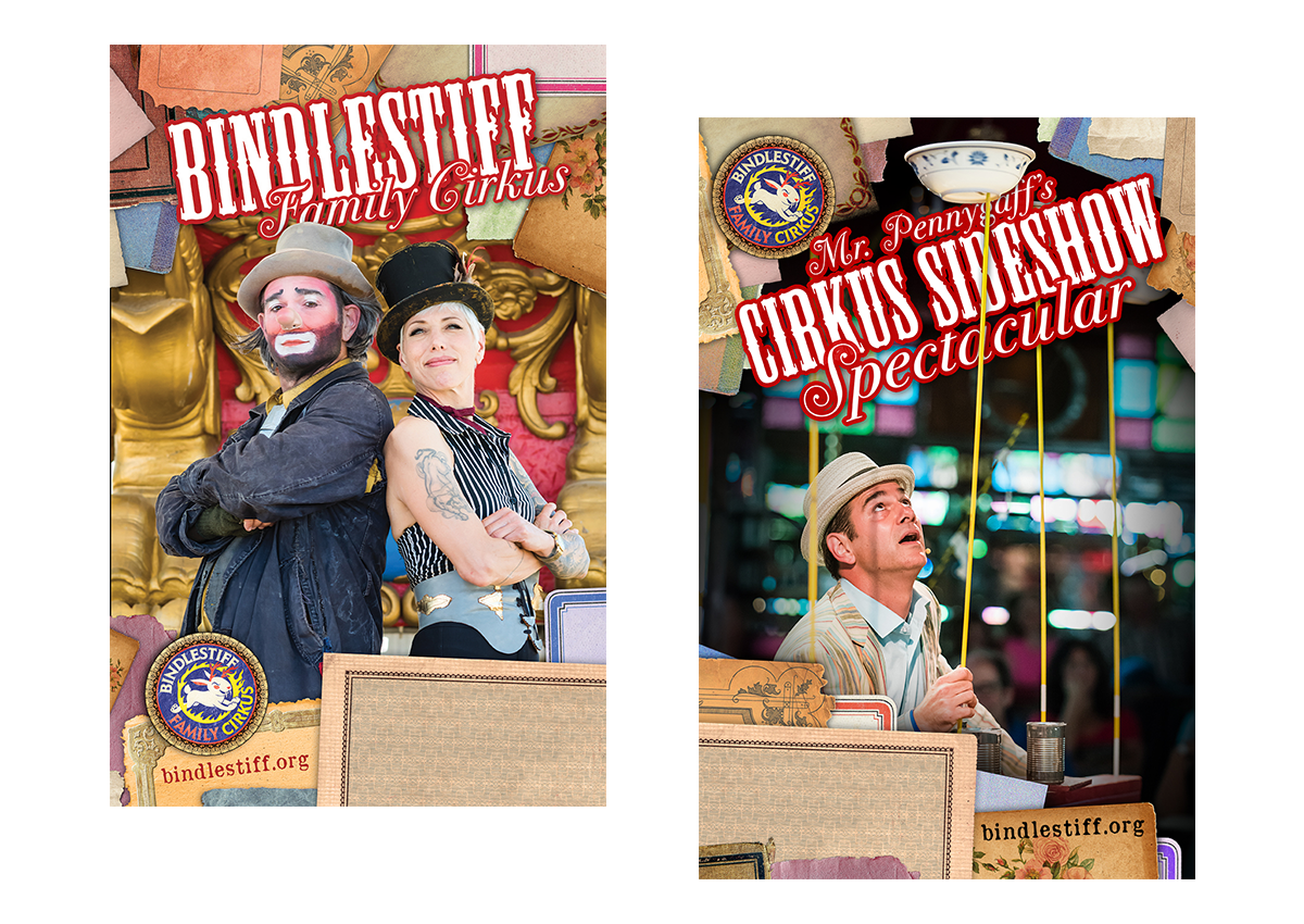 Bindlestiff Family Cirkus poster designs (2017)