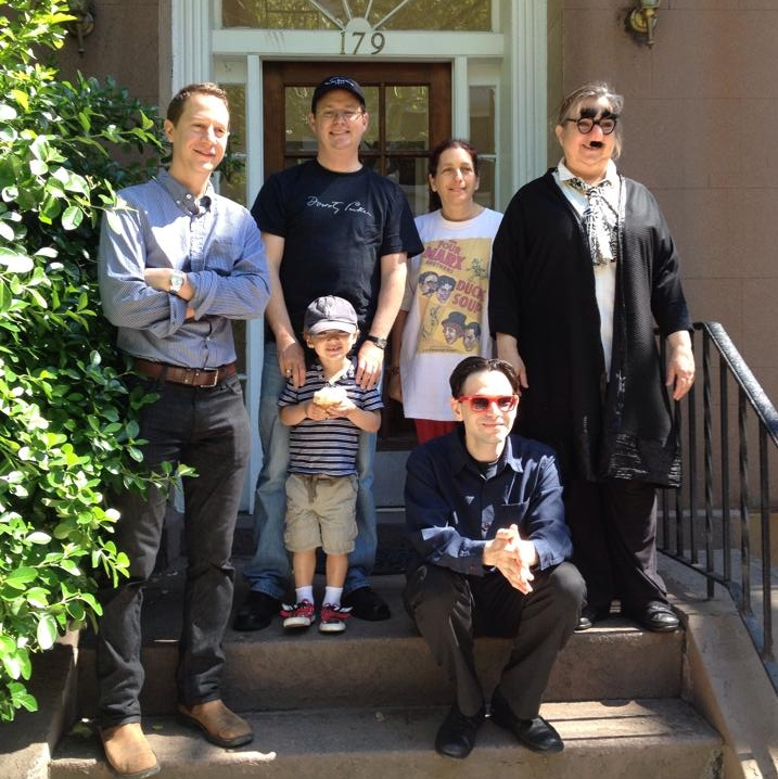 The Marxes of Yorkville: Gathering on the steps of the Marxes' childhood home, 179 East 93rd Street.