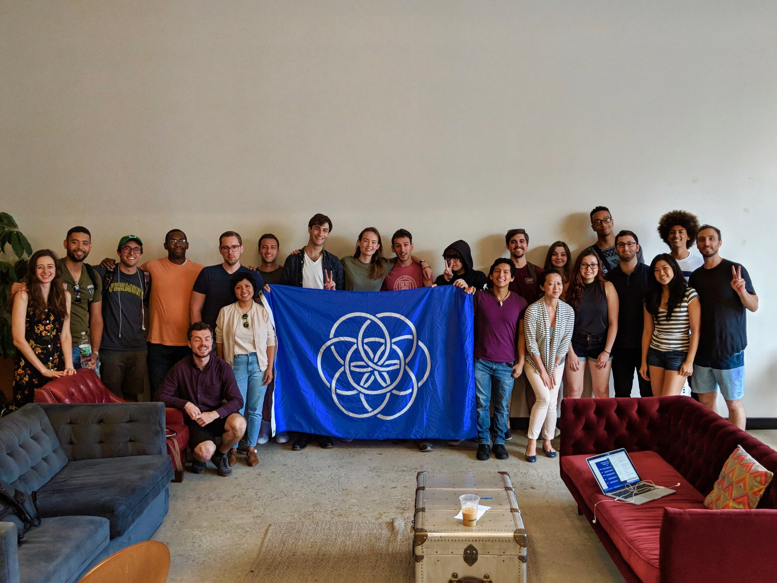 Blockchain for Peace Hackathon run by Kiba Gateaux from ConsenSys hacking on the UN's sustainability goals.