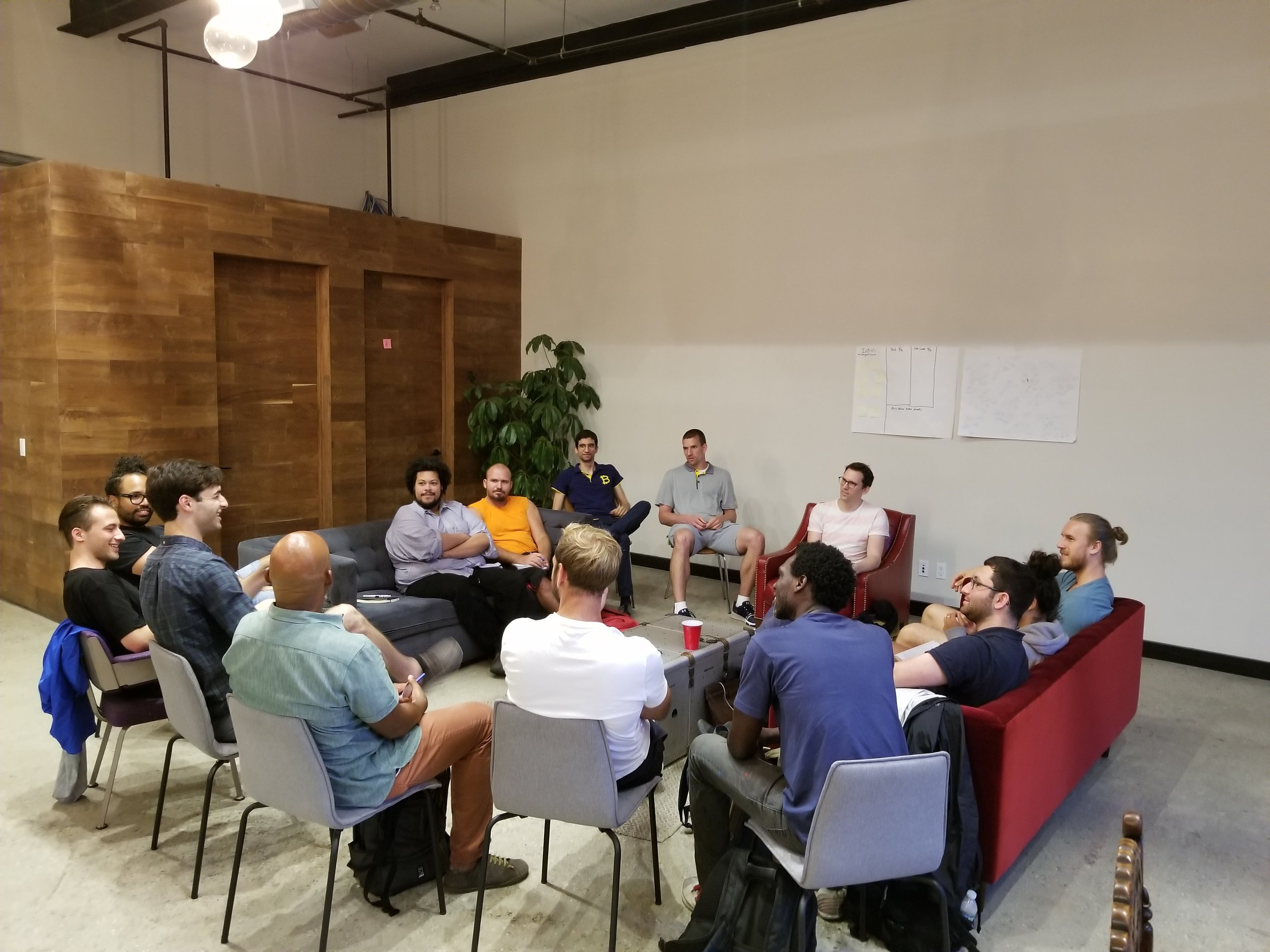 A typical Friday night meetup — this one on NFTs
