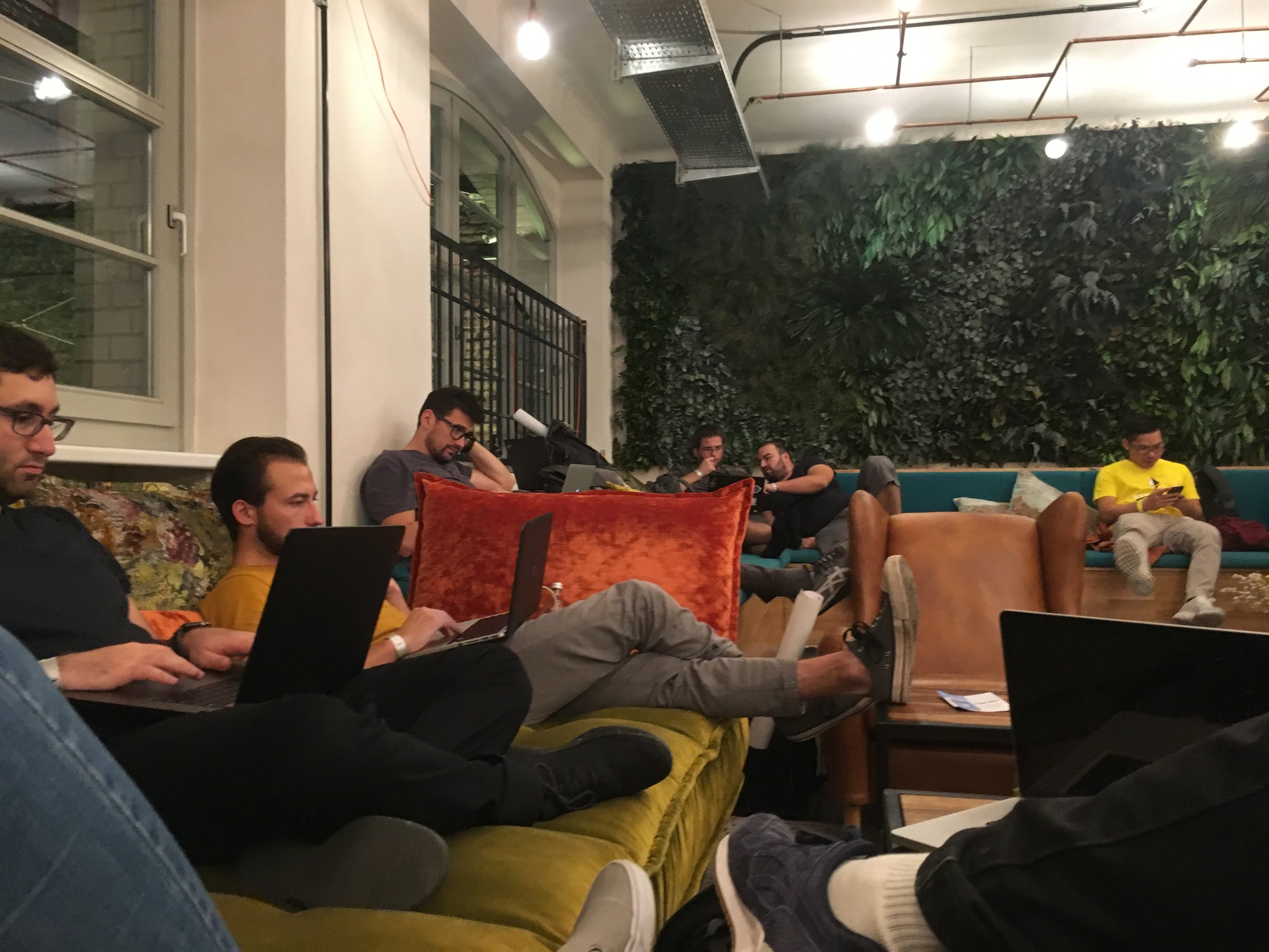 A couple BG community members hack and sleep at EthBerlin