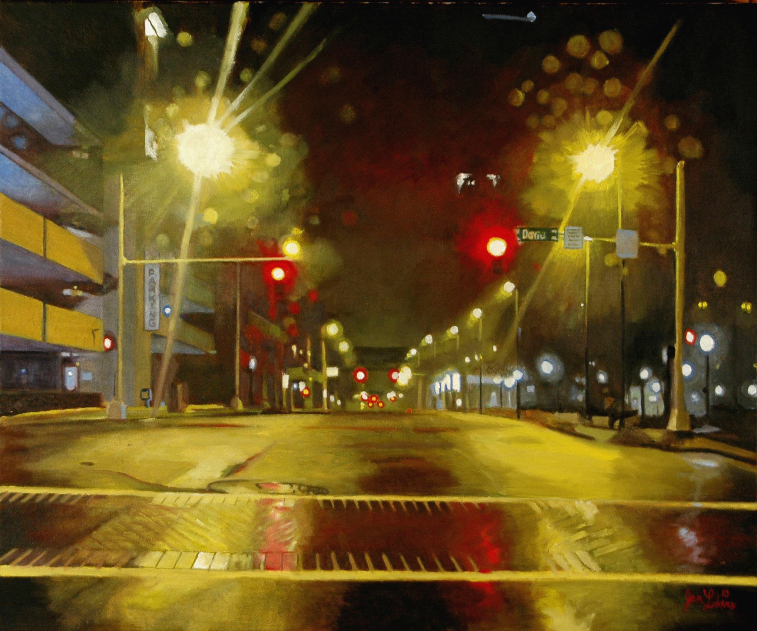 Wet Street at Night