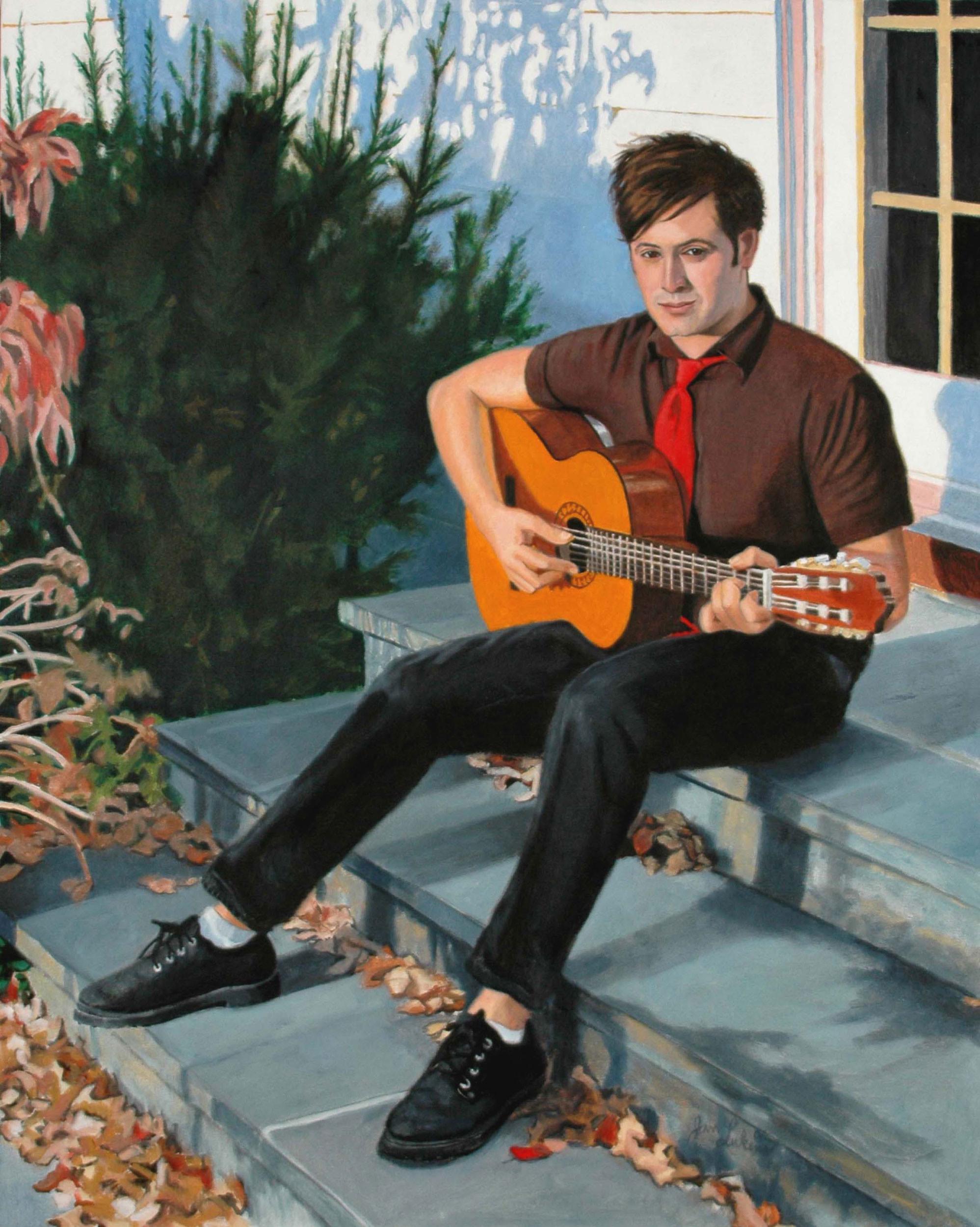Dan Playing Guitar