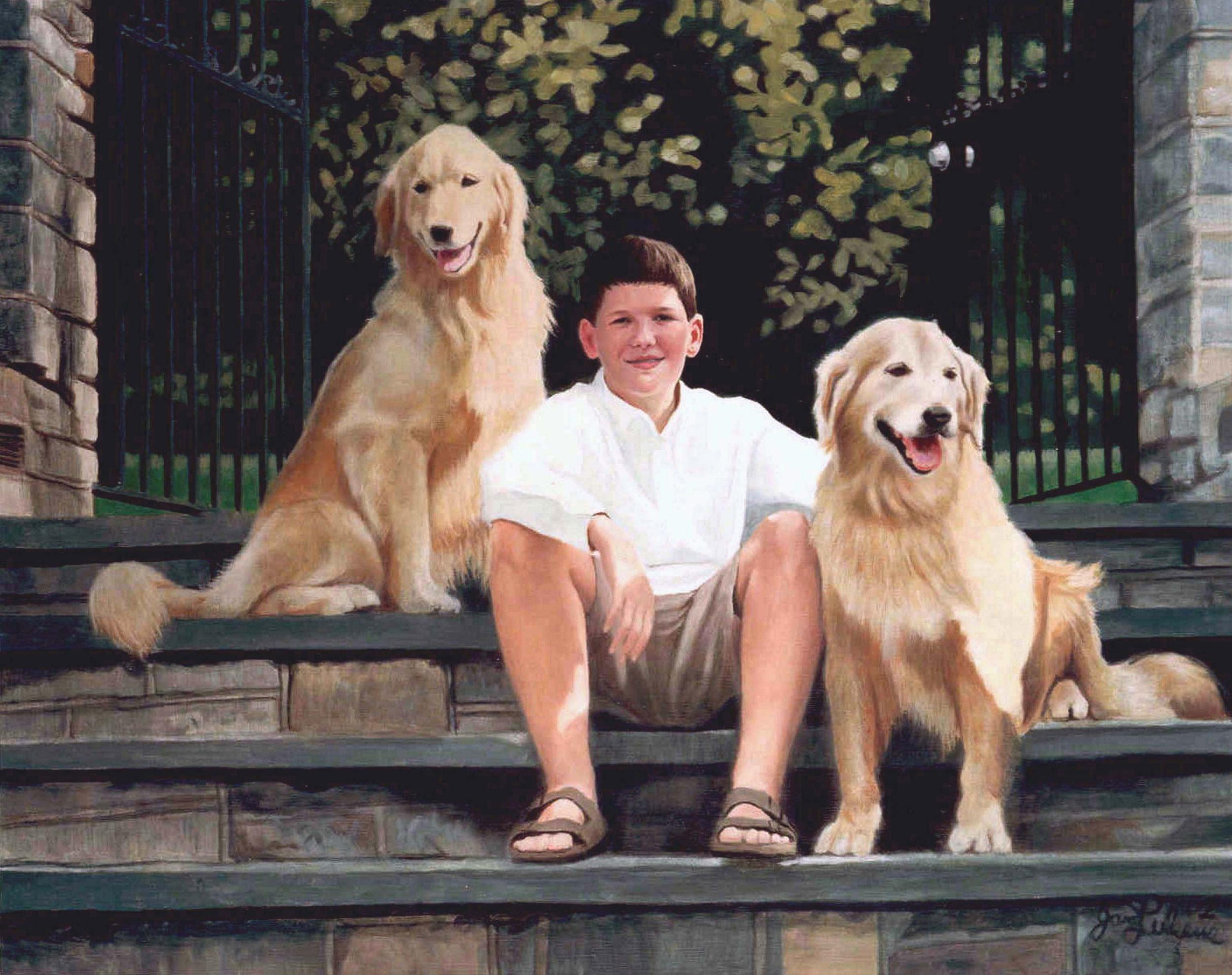 Kyle with Oscar & Slinky
