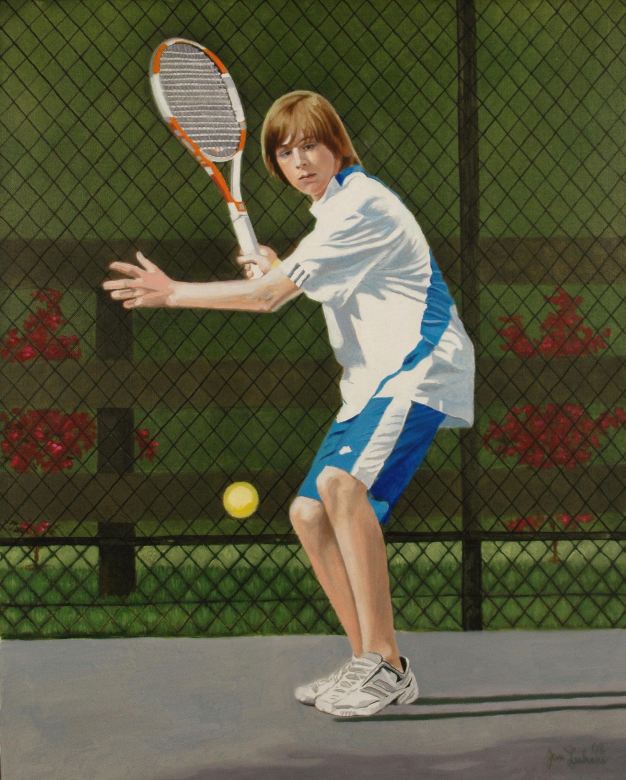 Liam Playing Tennis