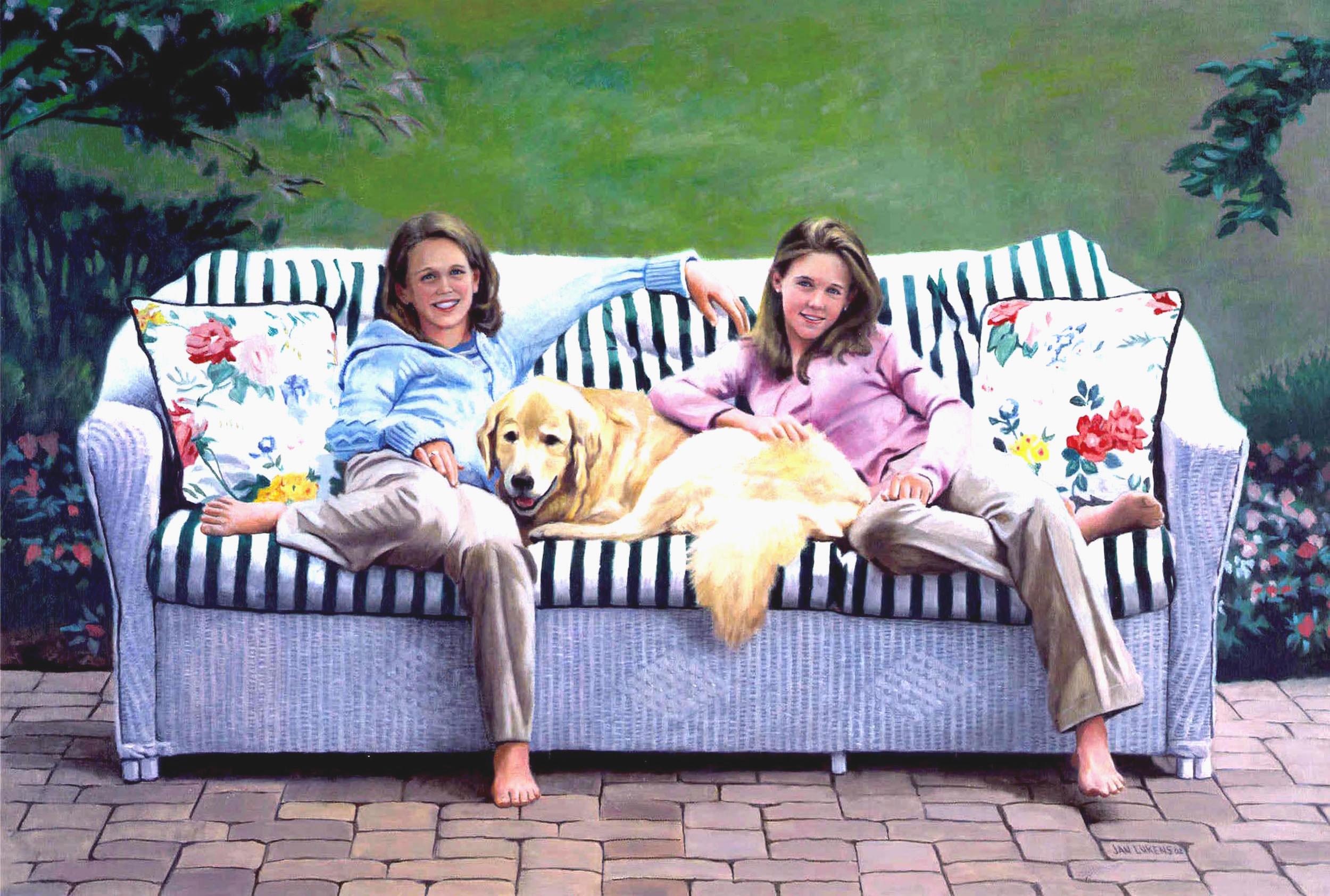 Lisa & Caroline with Annie