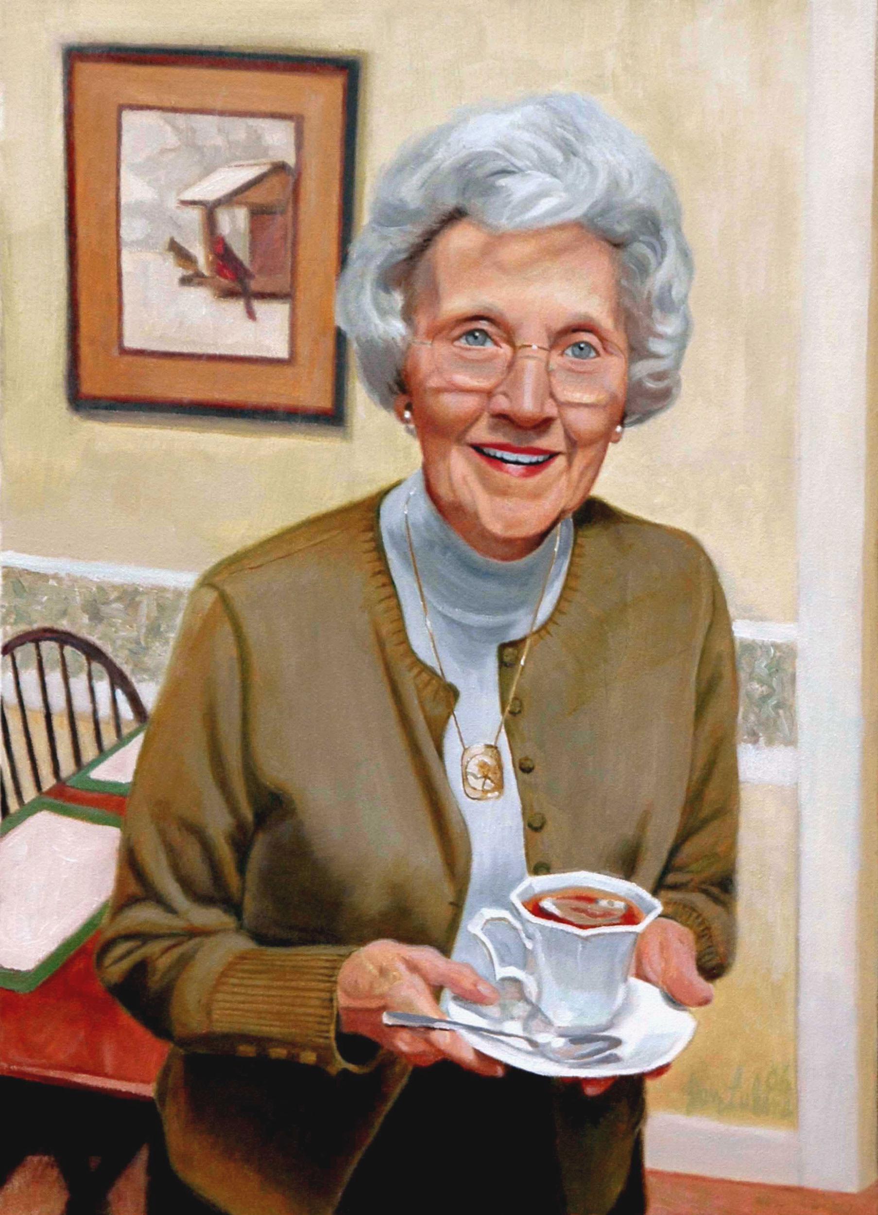 Mrs. Lukens & Her Tea