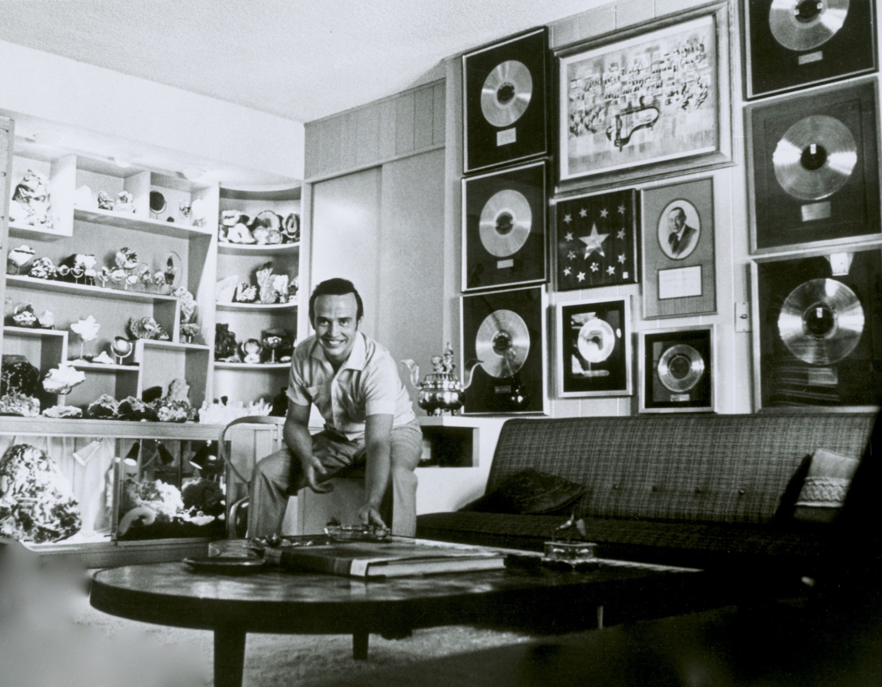 Gold record and mineral collections