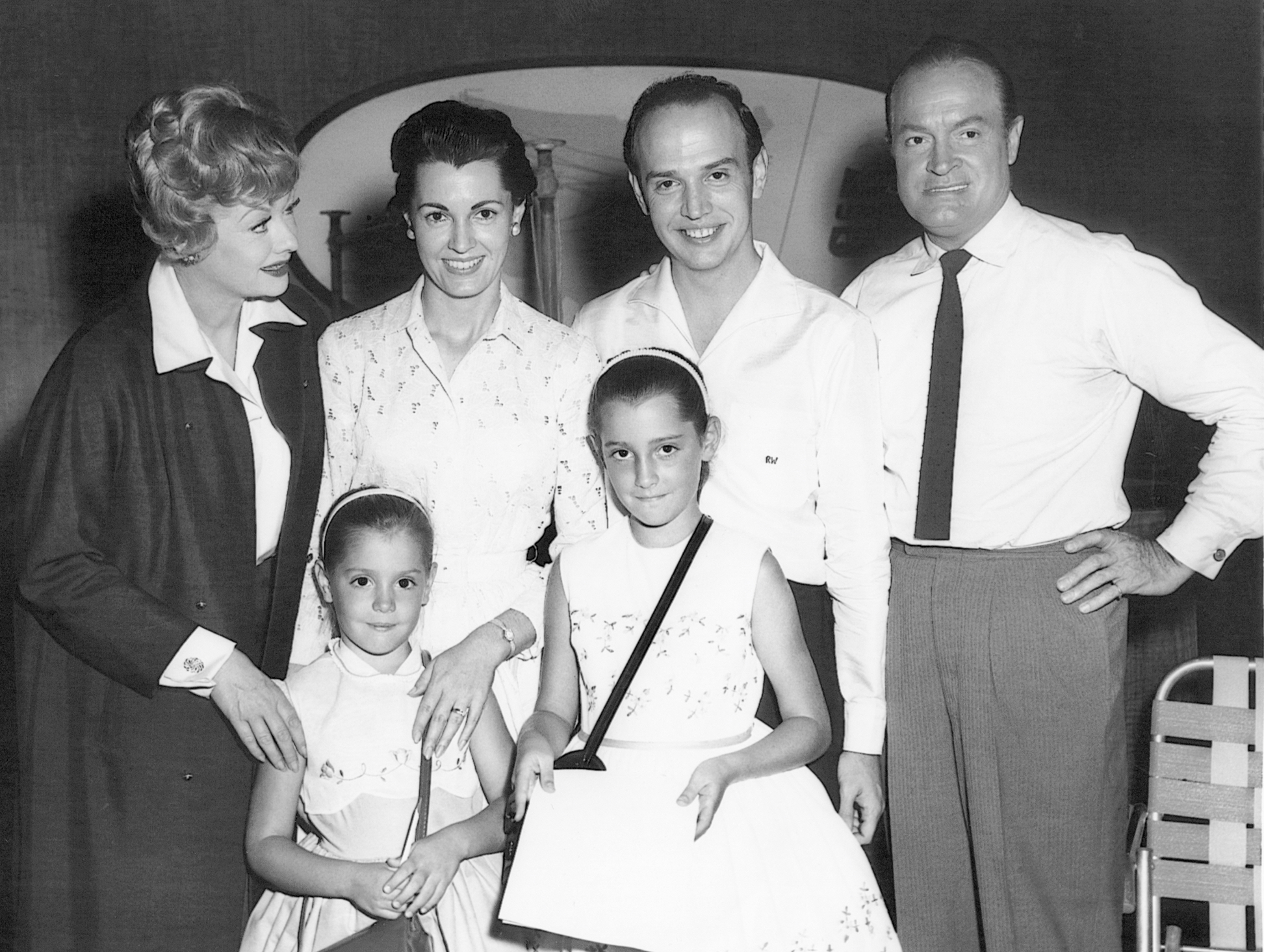 Lucille Ball & Bob Hope with Roger, Joy, Laura & Alice