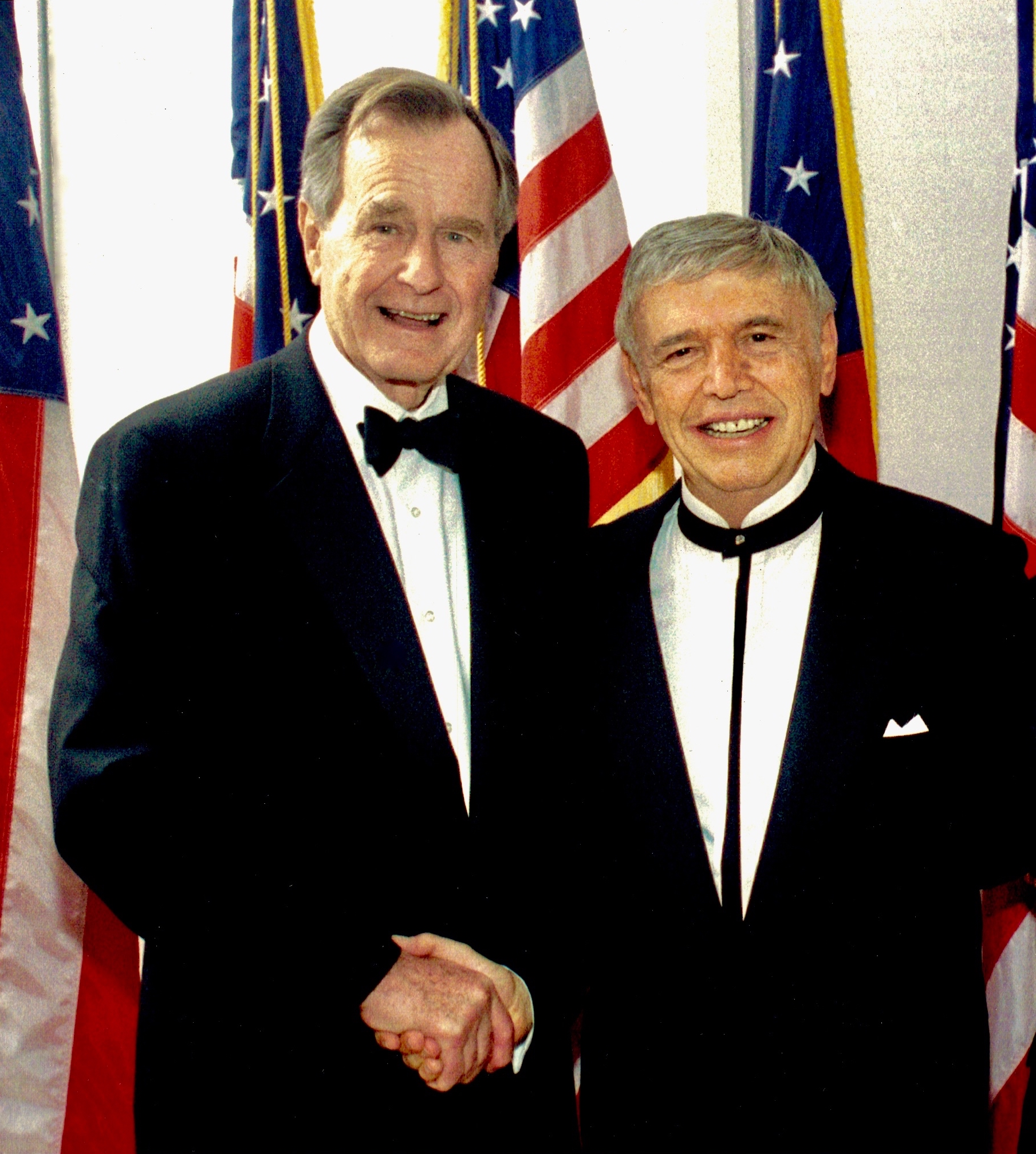 President George H.W. Bush with Roger
