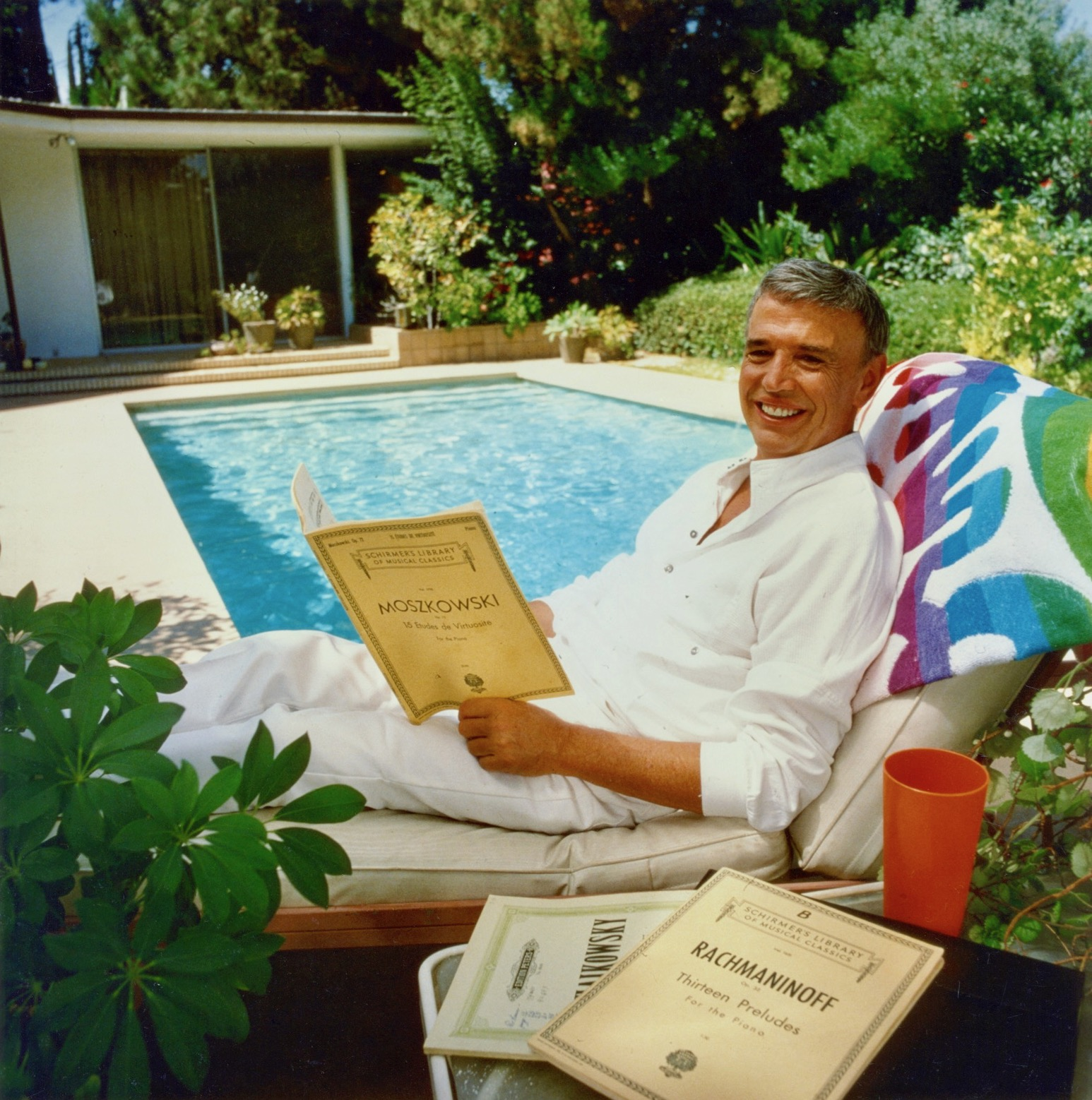 Roger at his poolside