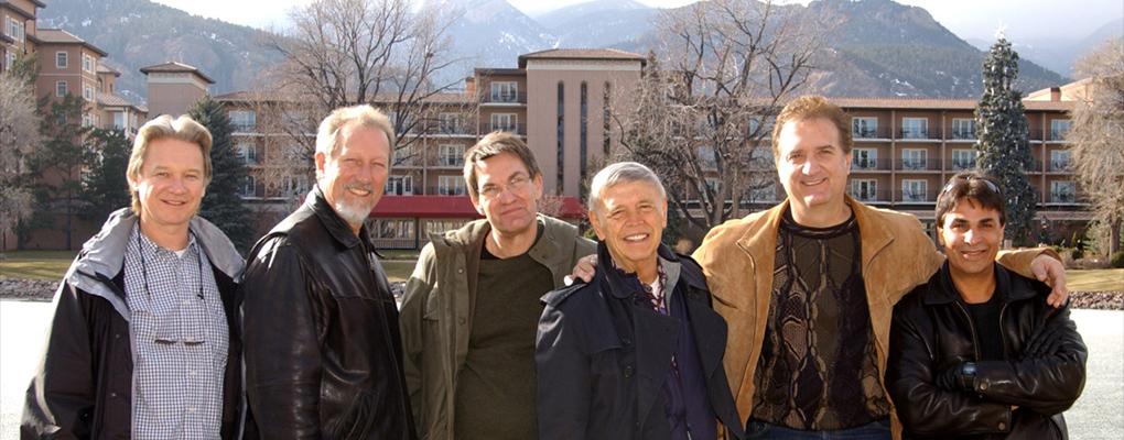 Roger's band: Gary Nesteruk, Ed Finn, David Johnson, Michael George, Jimmy Carnelli