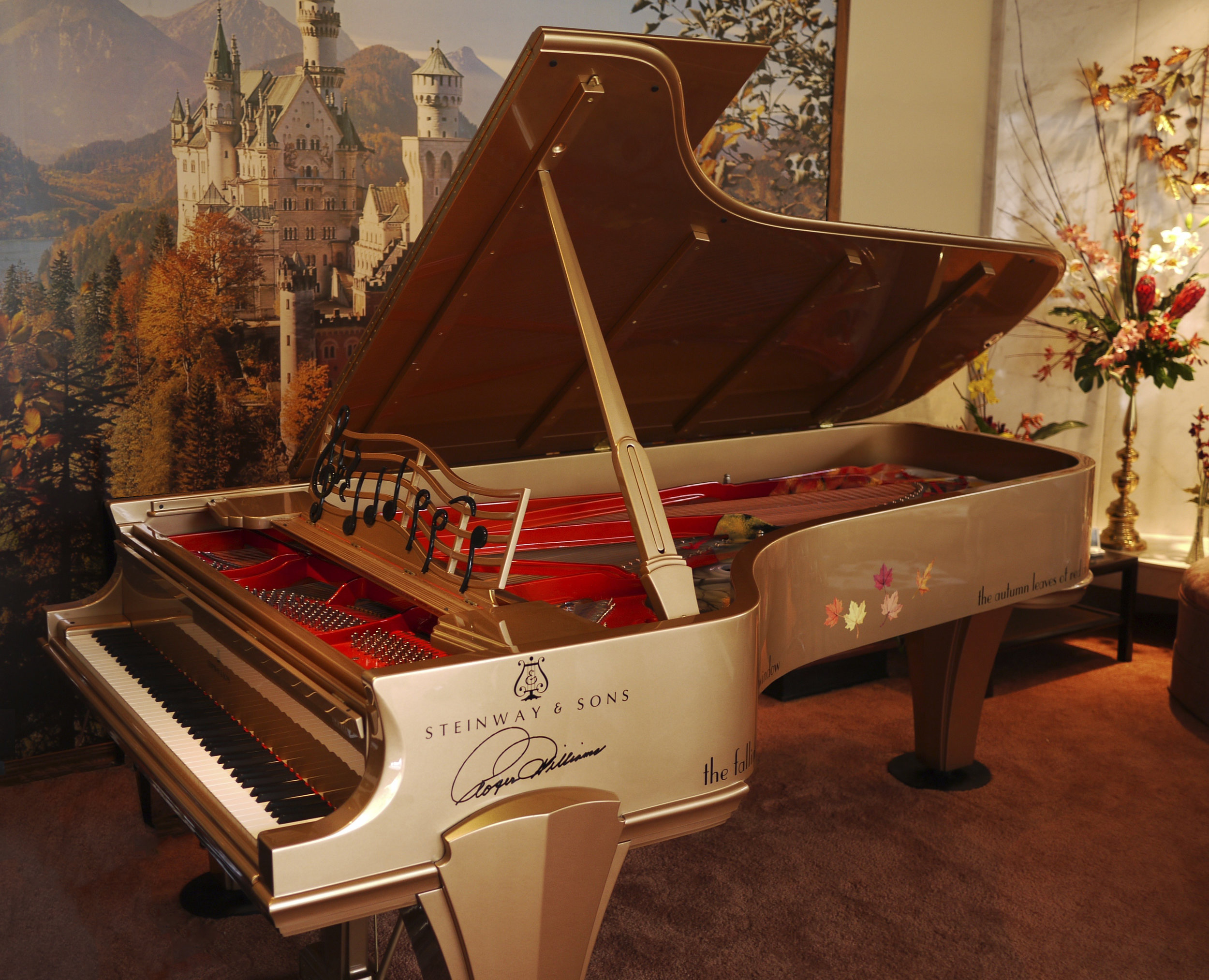 Roger Williams Limited Edition Gold Piano - Steinway & Sons