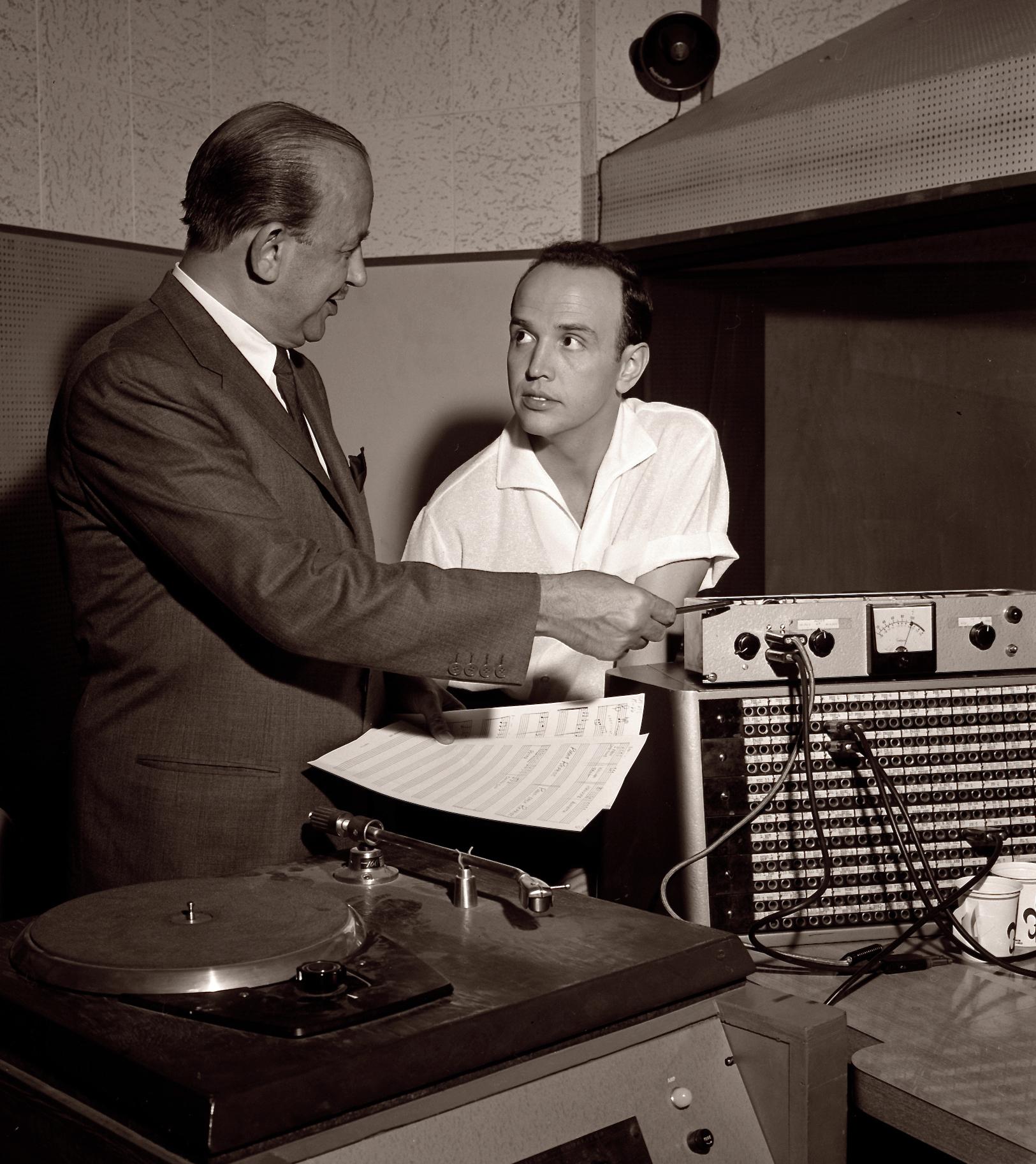 David Kapp at Roger's Recording Session
