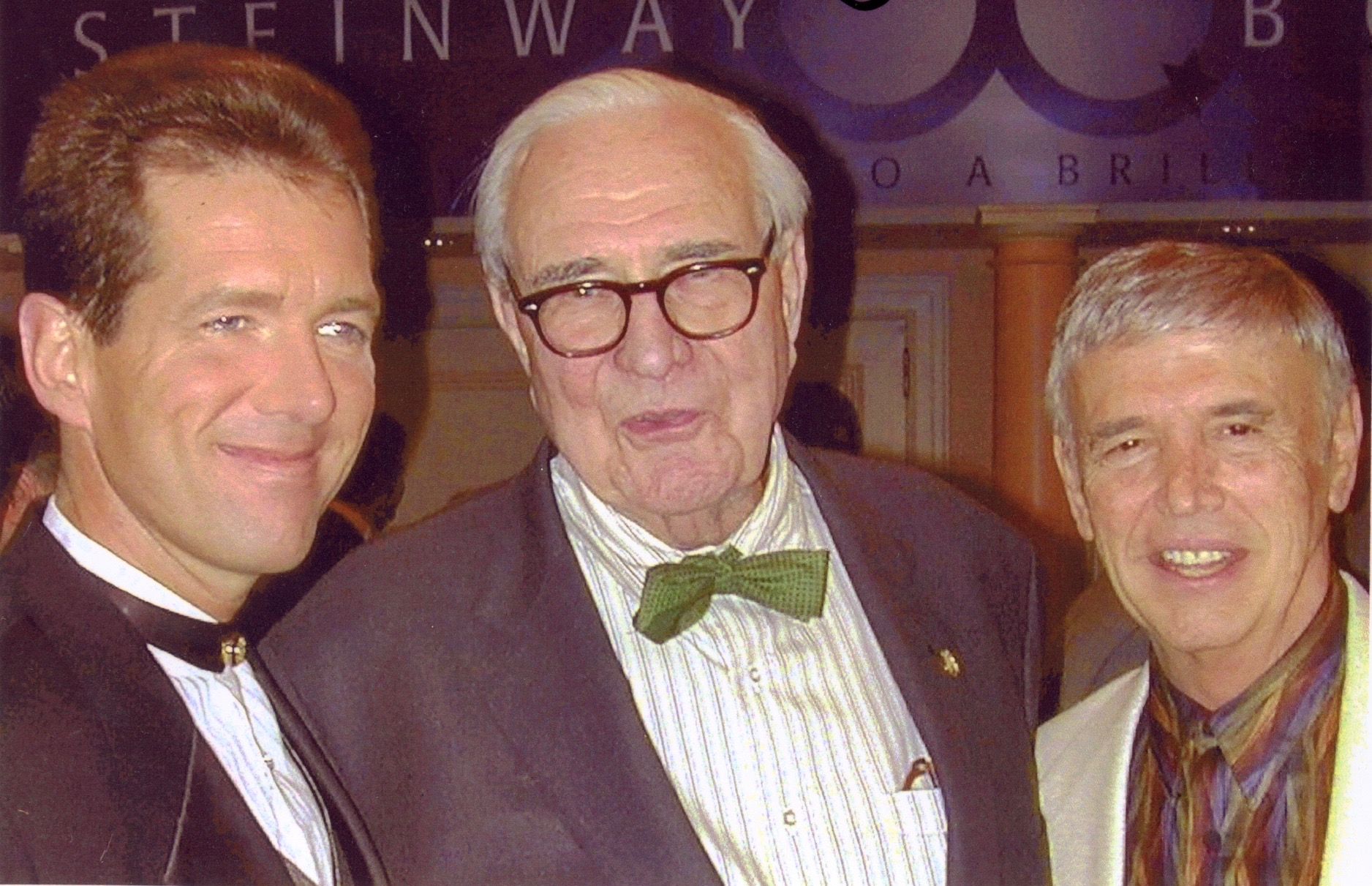 Roger  with David Osborne and Henry Steinway
