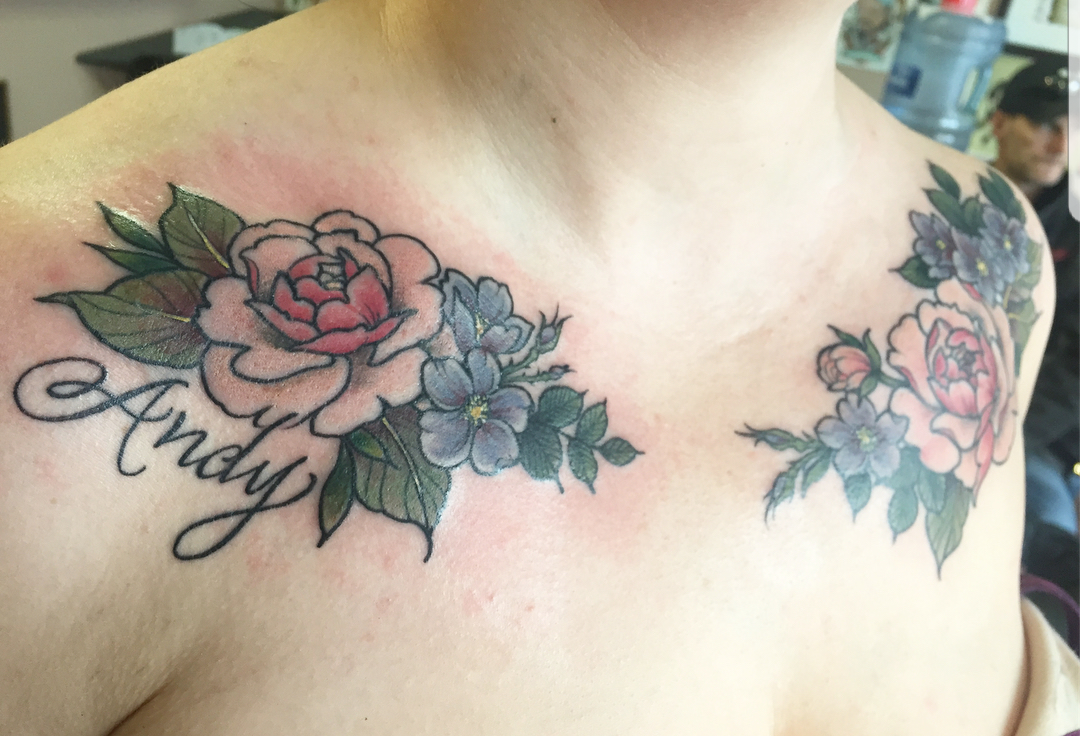 Inked by www.instagram.com/alyssavtattoos in March & April 2018.