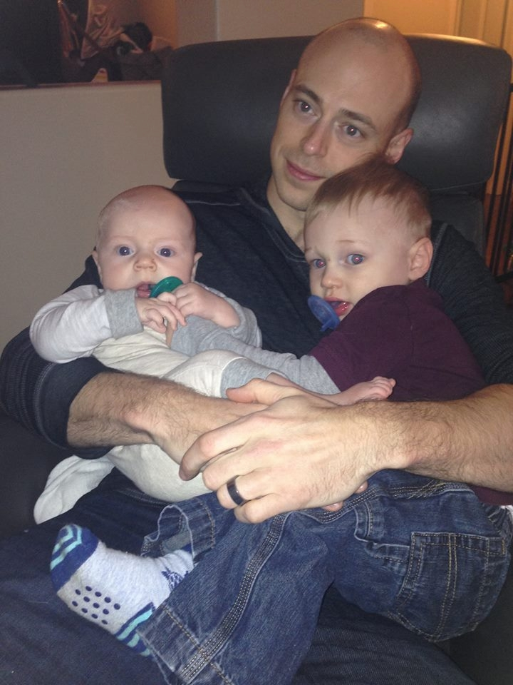 Cameron, Andy and Dominic in December 2015.