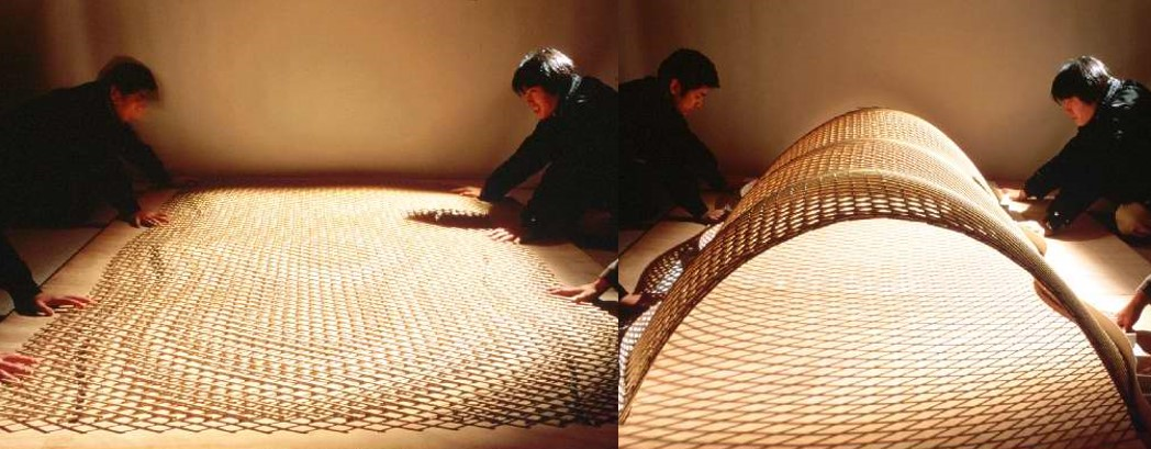 Shigeru Ban and Frei Otto, mock-up for the Japanese Pavilion, Hanover Expo, 2000