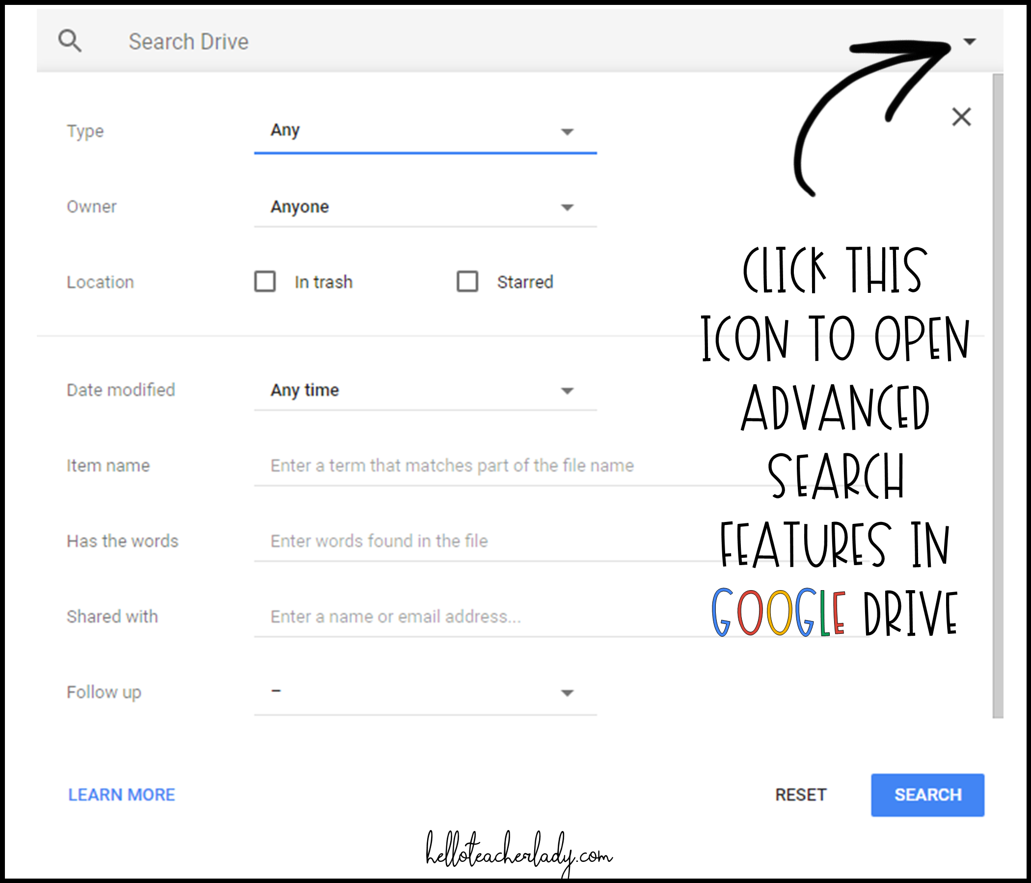 4 Google Drive tips every teacher (and student) should know: Advanced search features