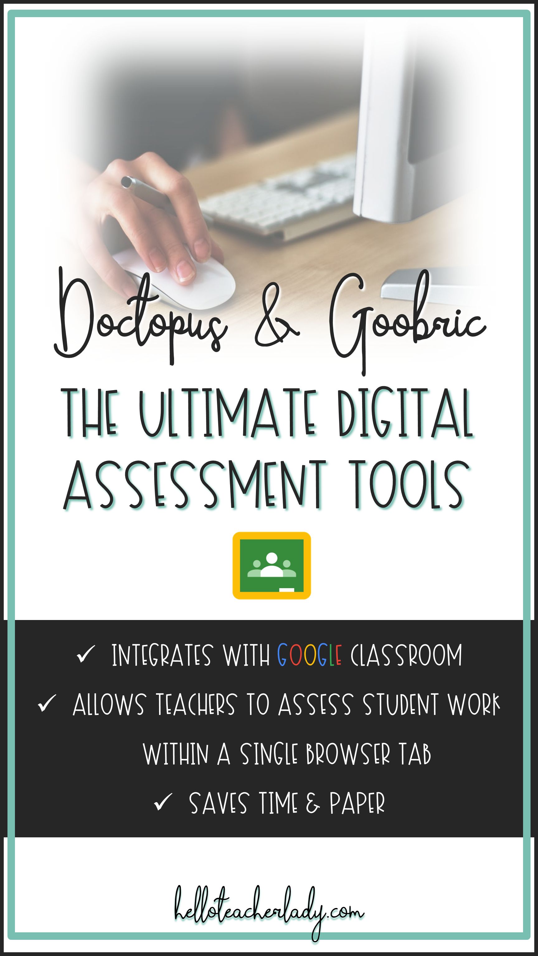 Doctopus and Goobric are digital assessment tools that work together with Google Classroom, Docs and Sheets.    Teachers can utilize these digital rubric tools to quickly assess and provide feedback on student work within a single browser tab. #GoogleEDU