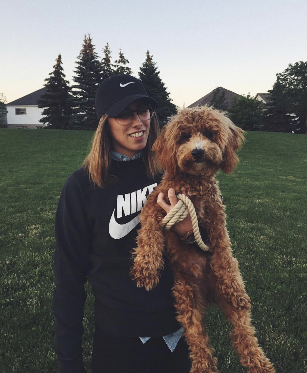Co-Founder Mariana & her dog Walter