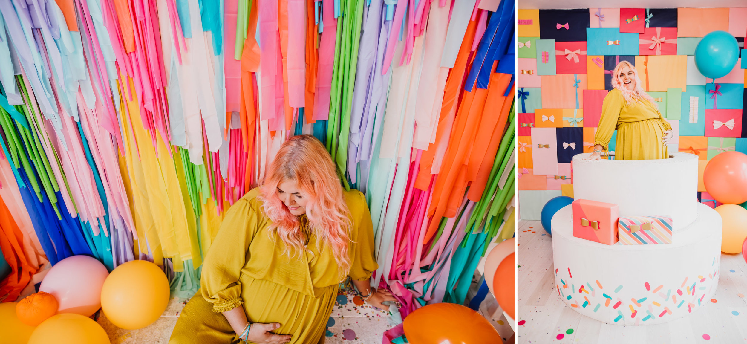 Maternity photos at The FOMO Factory by Lisa Woods