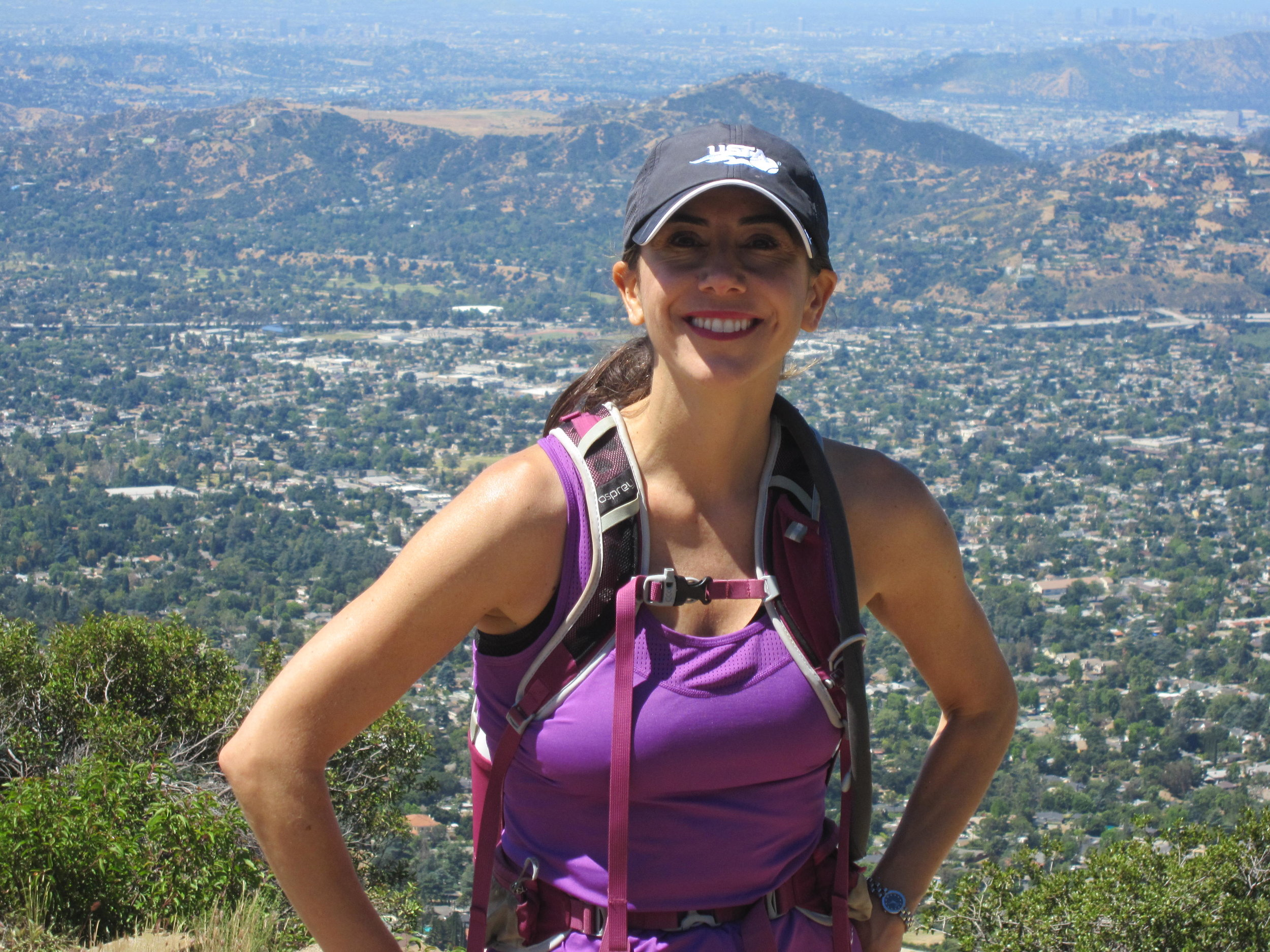 This is the face of a prepared hiker! -