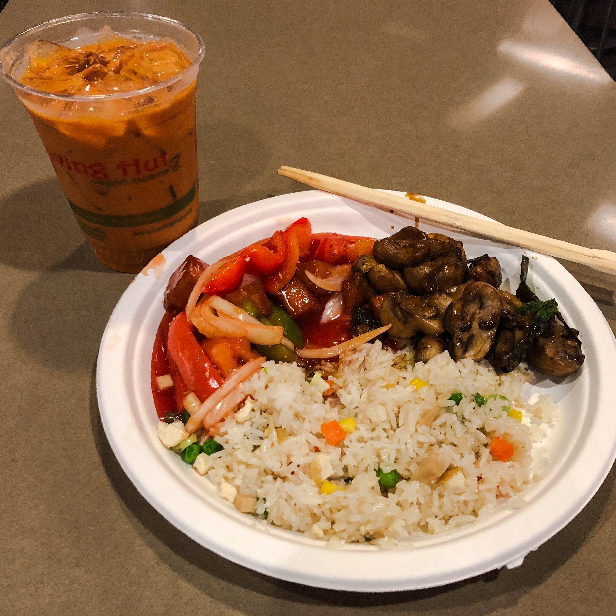 Vegan Thai iced tea with my meal.