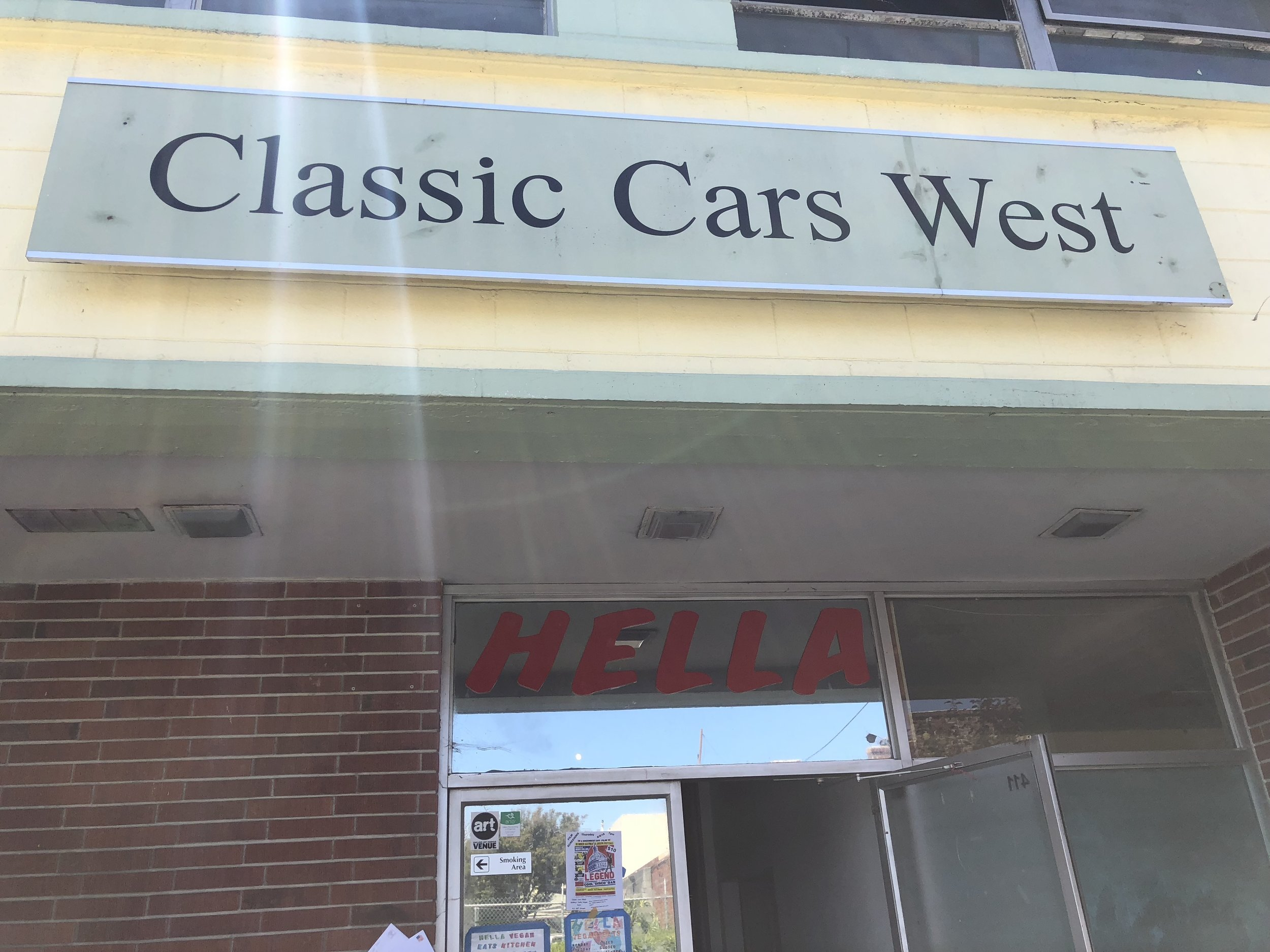 Look for the Classic Cars West sign