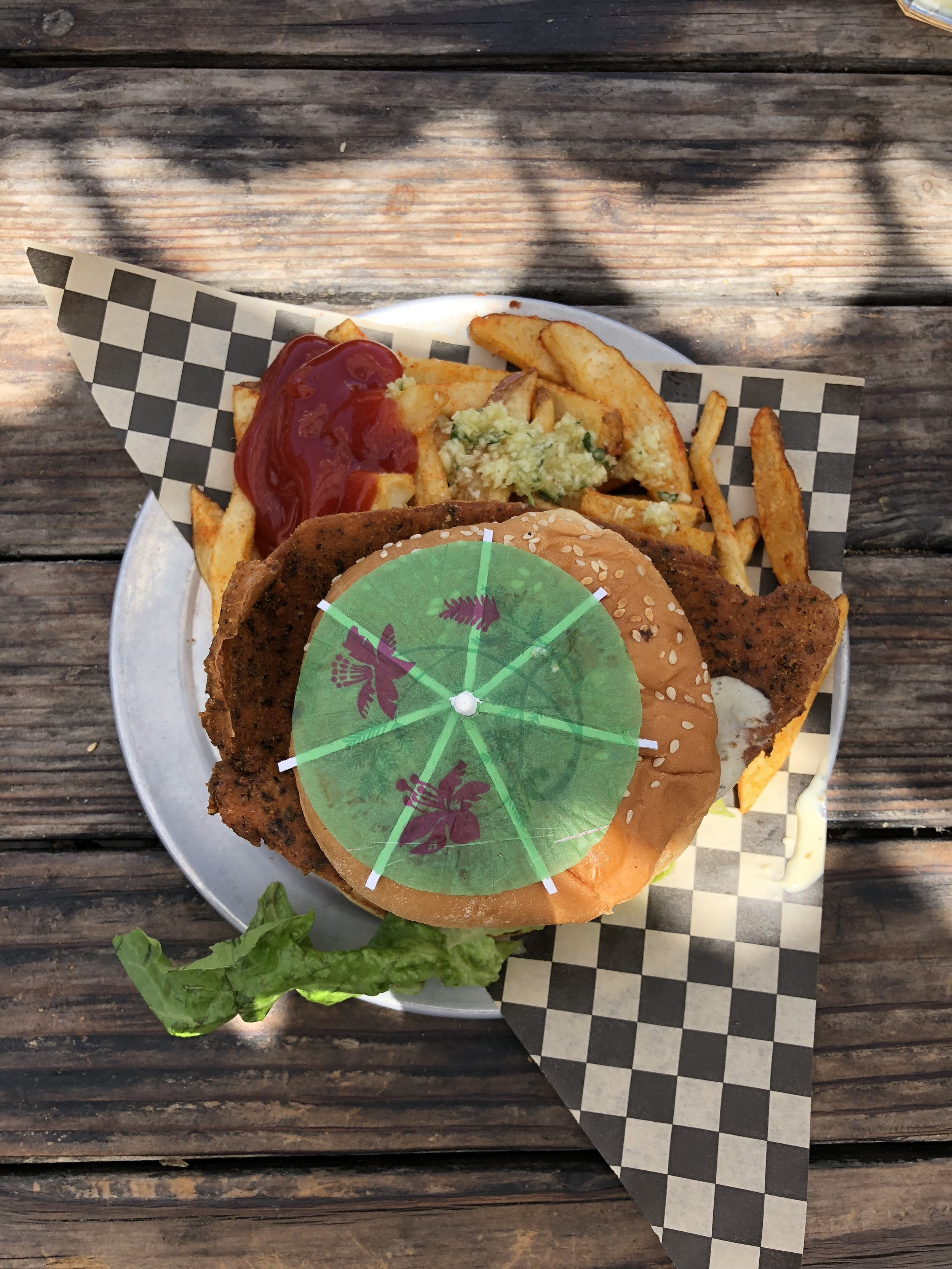 Chicken Ranch Burger!