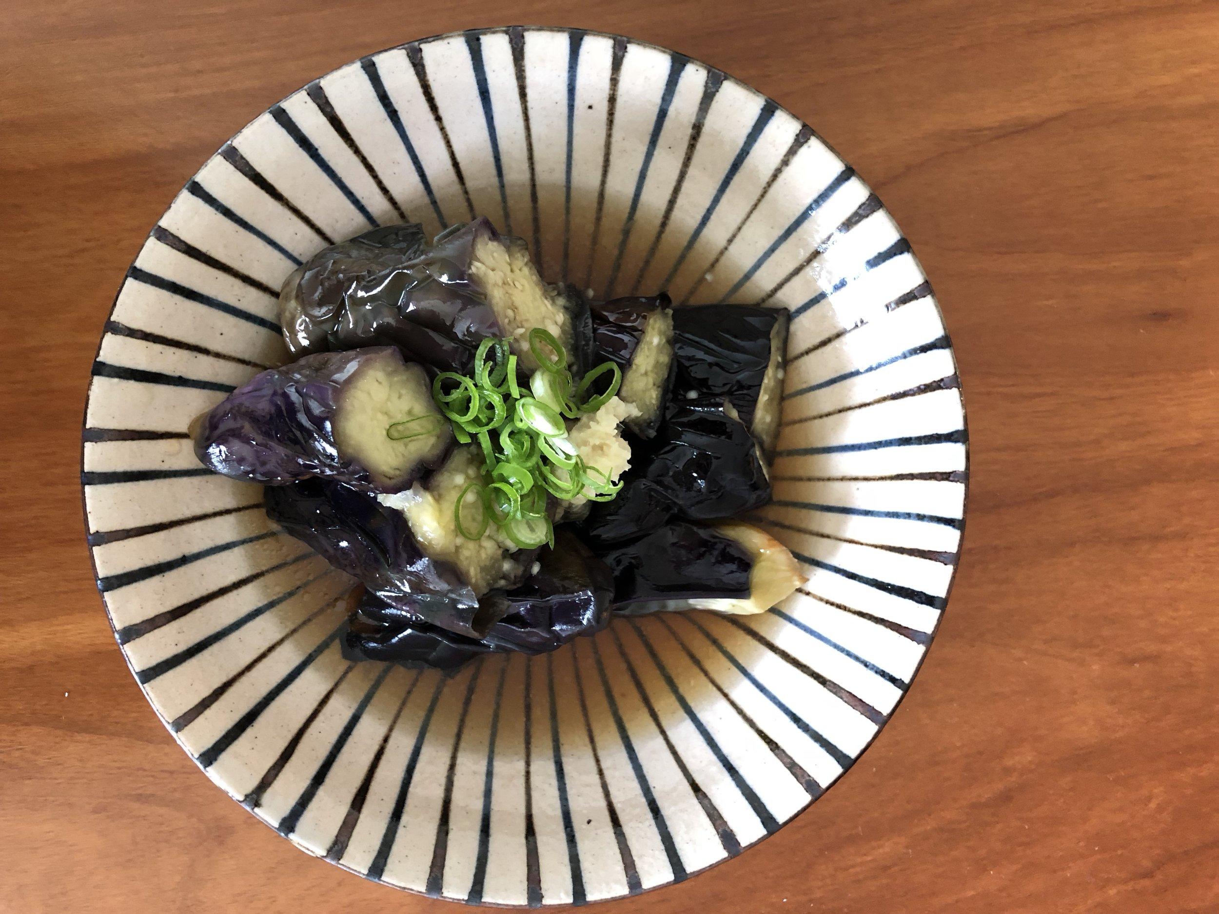 Fried & marinated Japanese eggplant