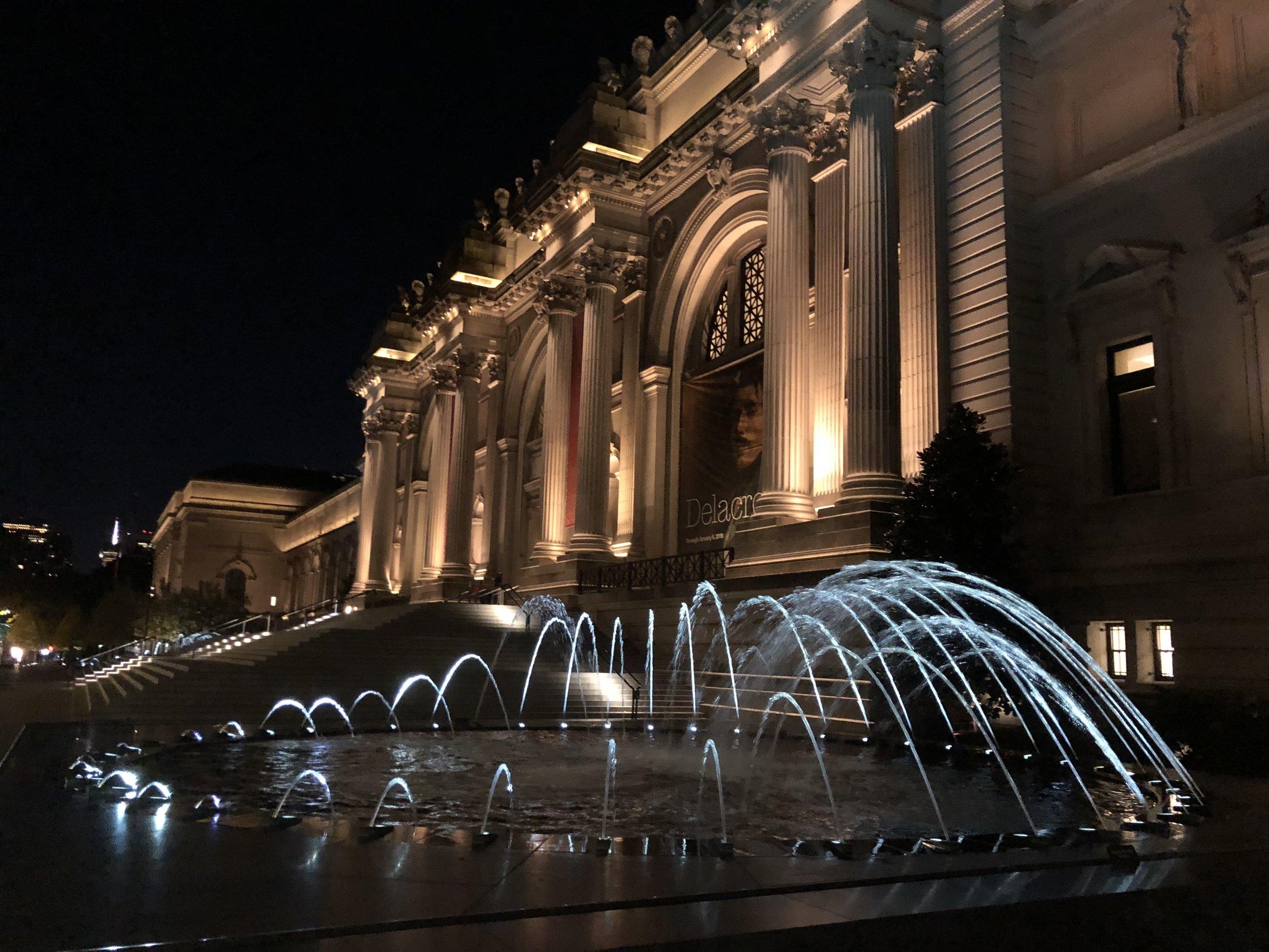The Met at night