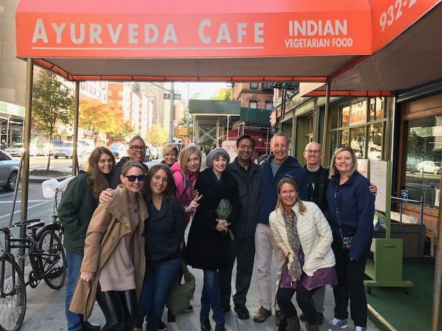 Group shot outside the Ayurveda Cafe