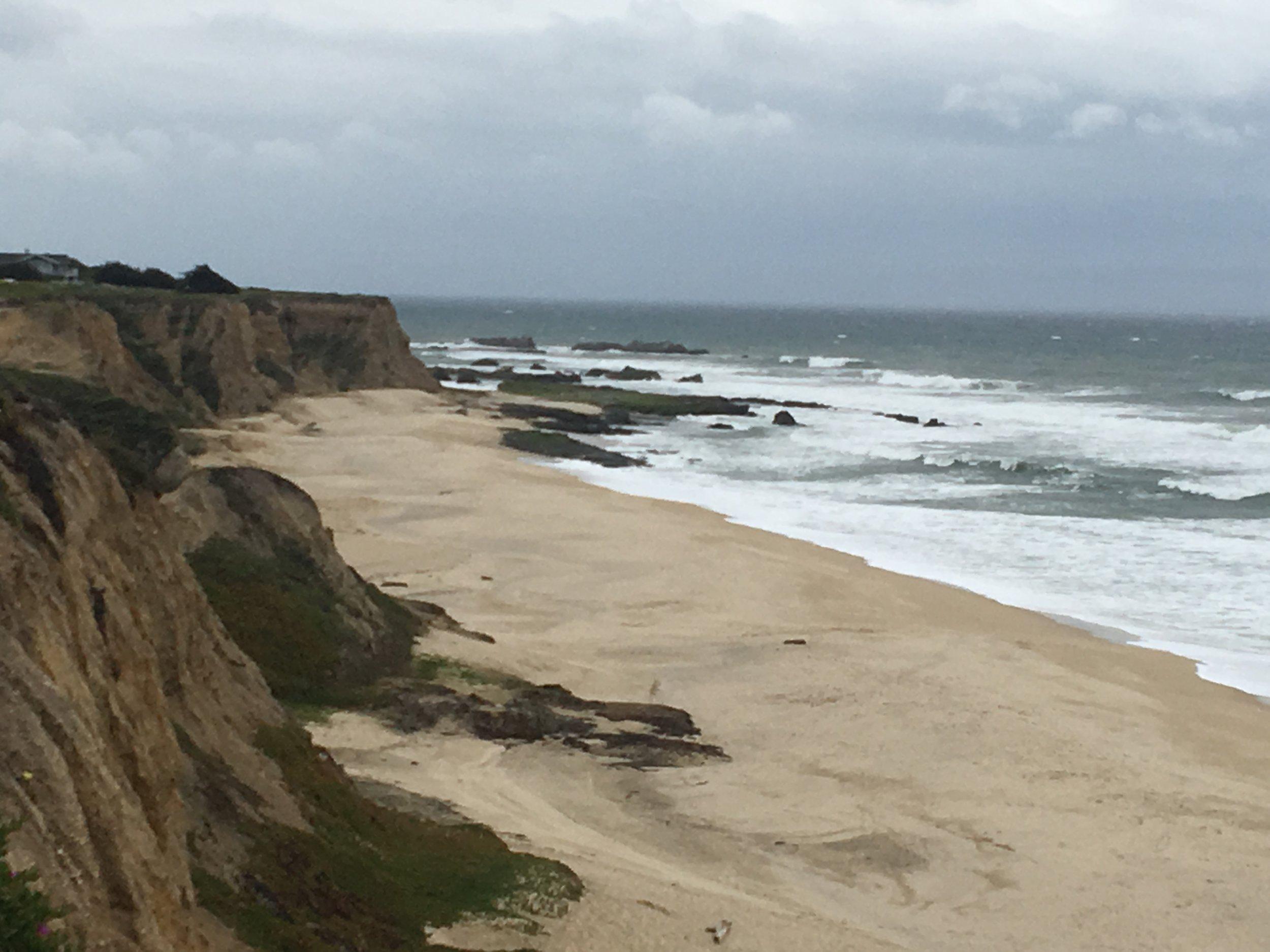 Cliffs over Half Moon Bay