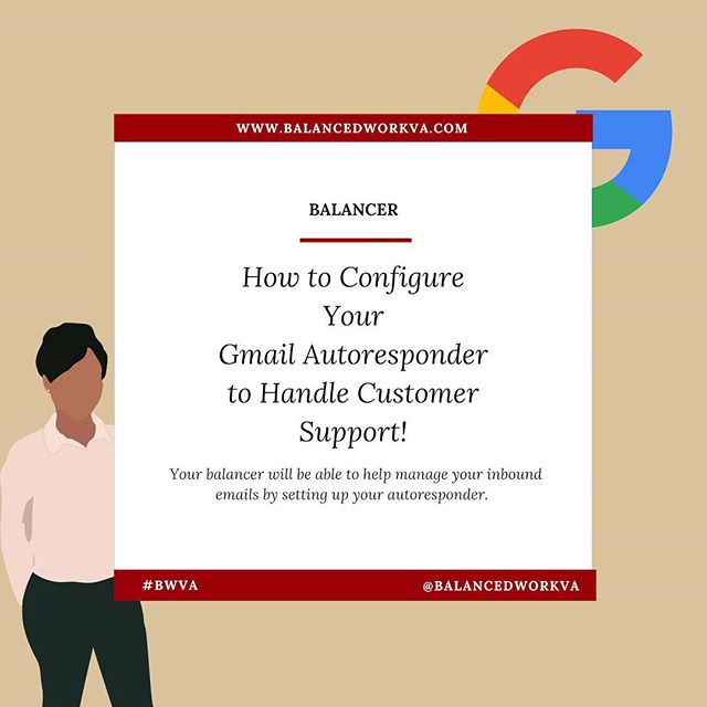 Do you have a business email address that you have designated to handle inbound customer emails?  You have an email marketing platform such as @convertkit or @mailchimp to send emails to your email list.  However, your reply-to email inbox📥 is important!  Making sure that inbox is set up to handle inbound customer emails efficiently will greatly improve your customer experience.  Maximize your time🕓: Utilize your Vacation Responder to greet your customers (for Gmail users). 1. In your gmail account, select the gear icon on the far right-hand side.  2. Select Settings from the drop down menu.  3. Locate Vacation Responder towards the bottom of the page.  4. Enter the copy for the email that you would like your customers to see when they send you an email. (Ex. Thank you for contacting us!...) Now you won't have to worry about your inbox having tons of unanswered emails! #maximizeyourtime