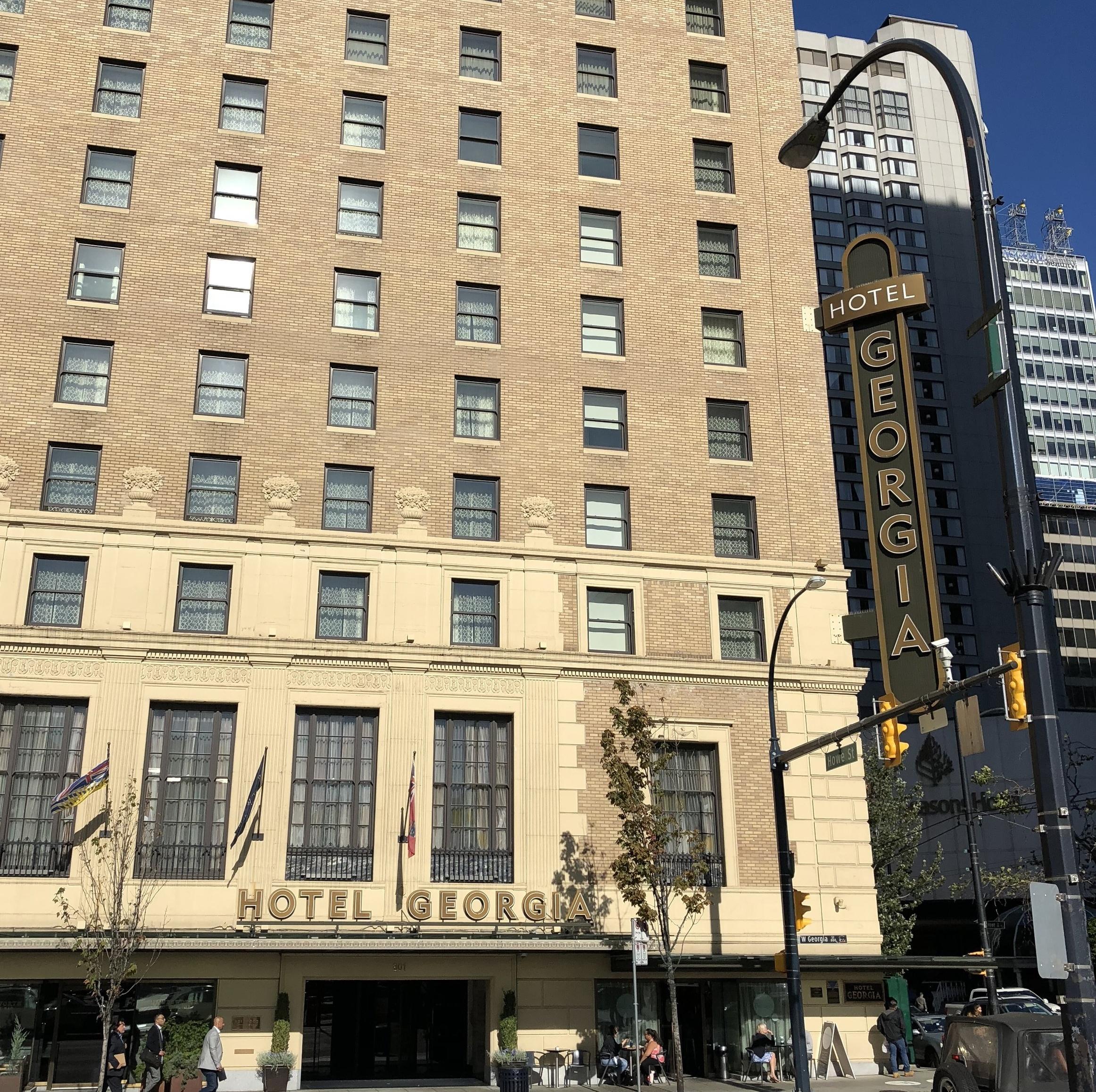 Listening Location:  Northeast bench of šxʷƛ̓ənəq Xwtl'e7énḵ Square across from the Georgia Hotel  850 West Georgia Street