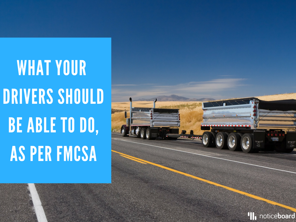 The Federal Motor Carrier Safety Administration (FMCSA) that set the final ELD mandate date, requires that all drivers know how to:
