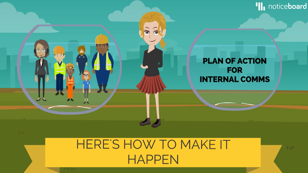 Internal comms ain't no easy walk in the park, especially when its meant for blue-collar workers.