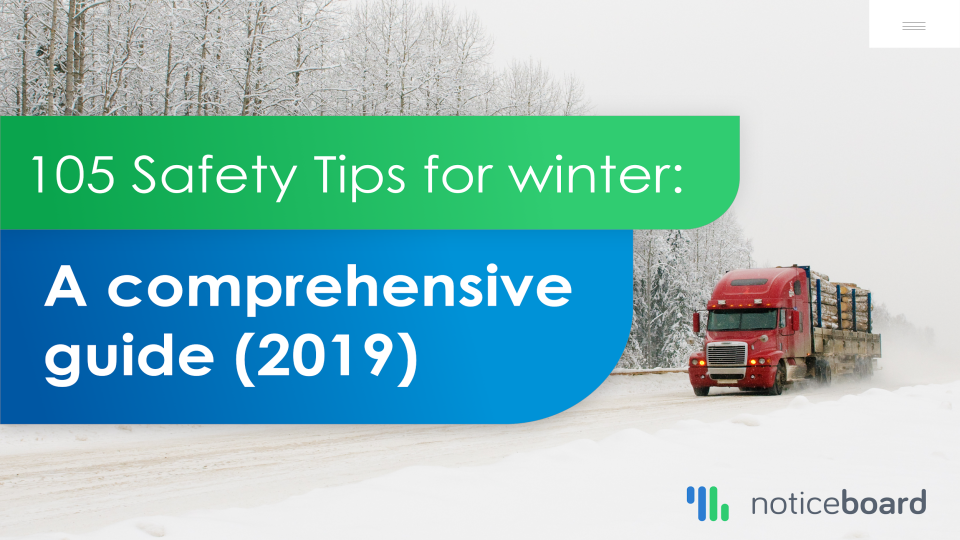 Download our 2019 ebook edition - Winter driving tips for truck drivers