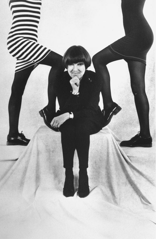Mary Quant framed by models wearing her mini skirts  (Image: The LIFE Images Collection/Getty)