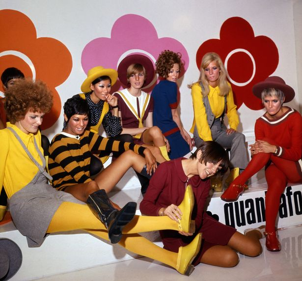 Mary Quant photographed with models wearing her iconic designs at Quant Afoot footwear collection launch in 1967  (Image: PA Archive/PA Images)