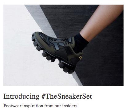 Net-a-porter launch #TheSneakerSet