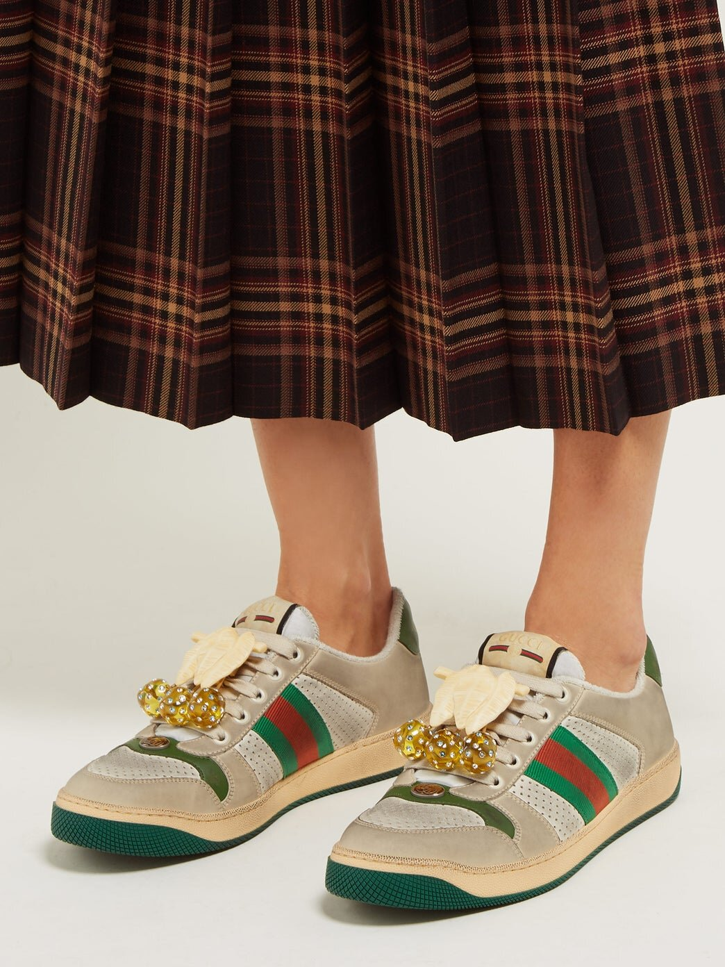 Gucci's 'worn look' trainers