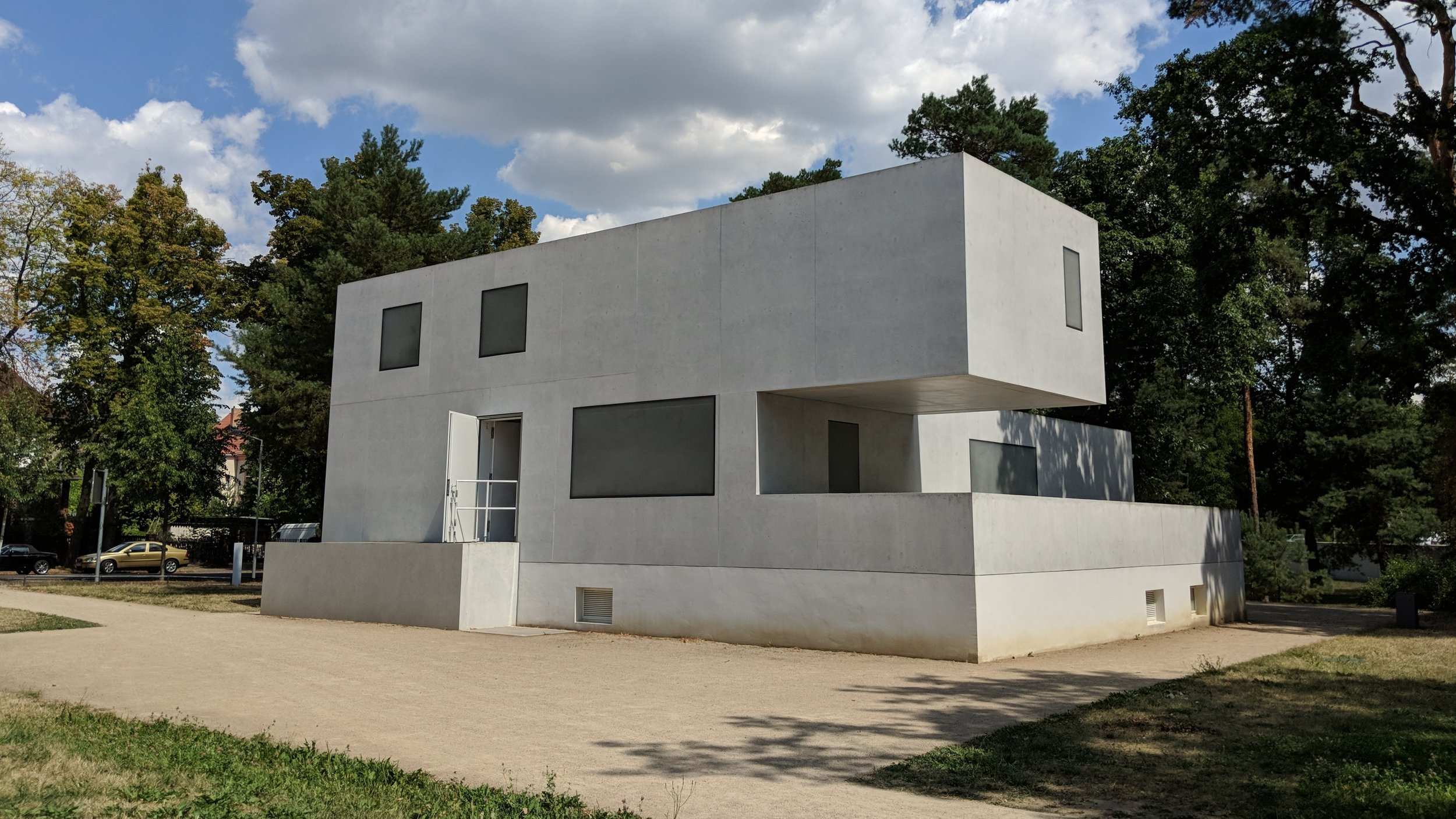 Haus Gropius (Director's House) recreated as a 1:1 scale model of the original.