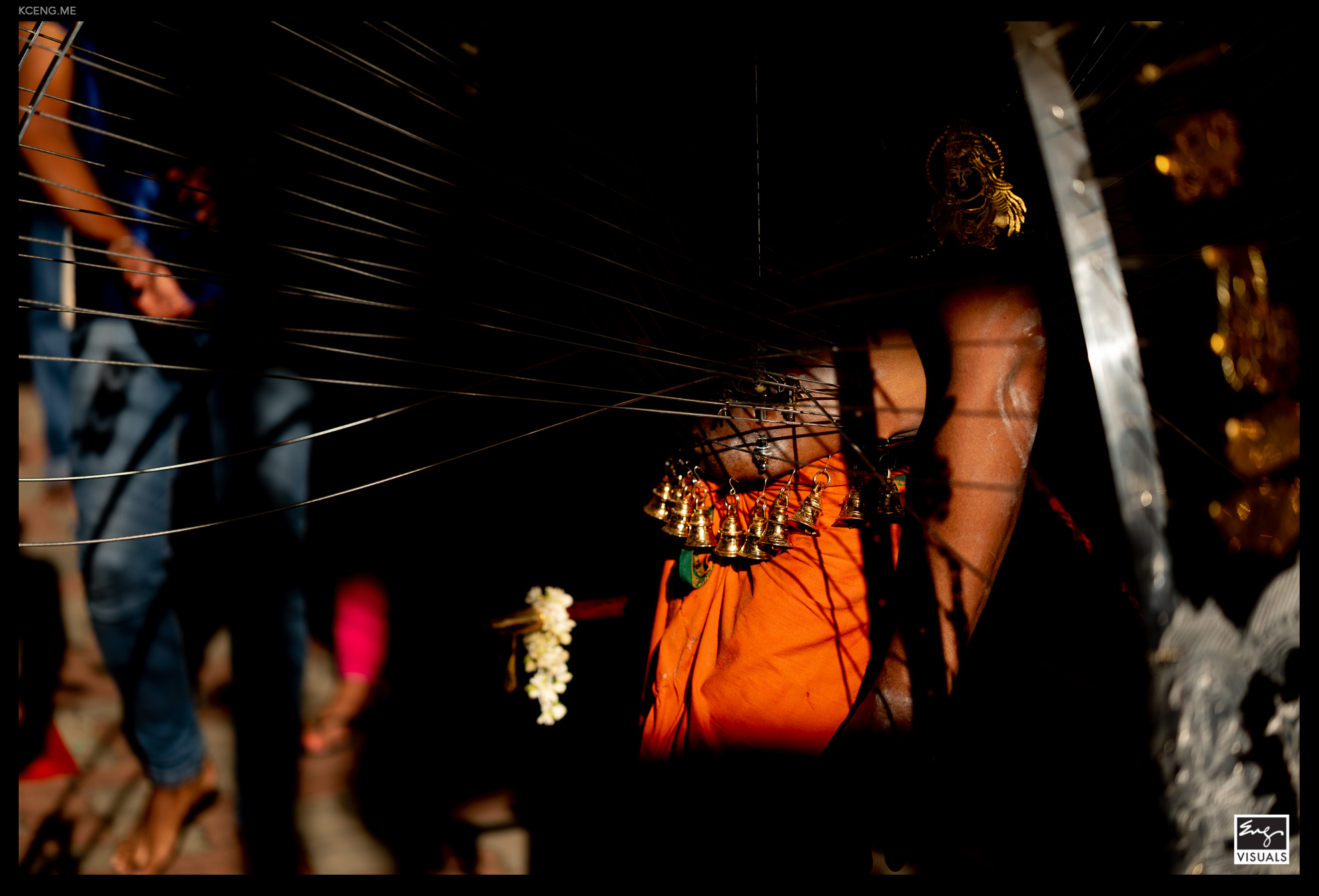 A devotee at Thaipusam in Singapore.  photographed by KC Eng