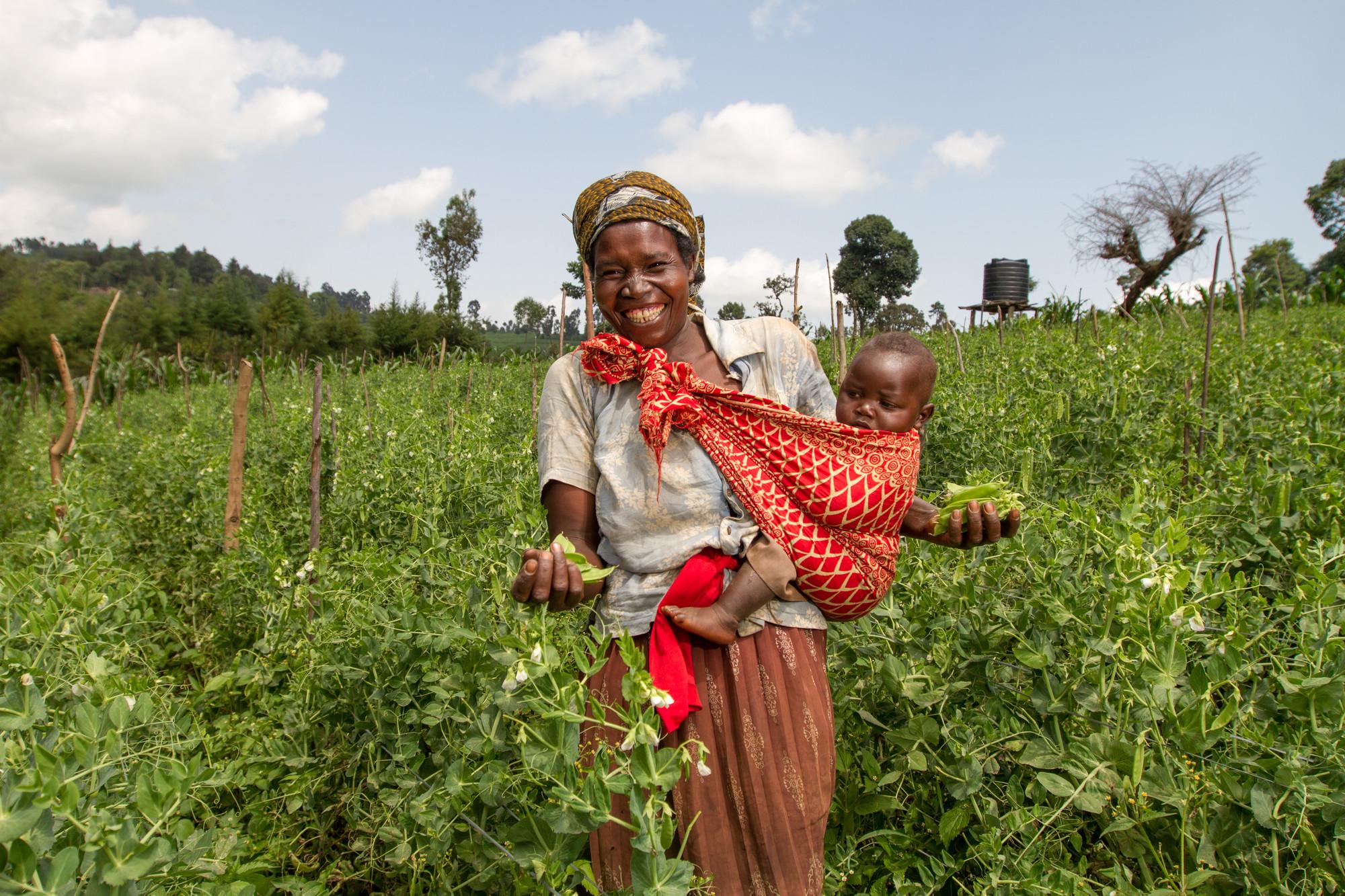 Western Kenya woman with baby Farm Africa.jpg