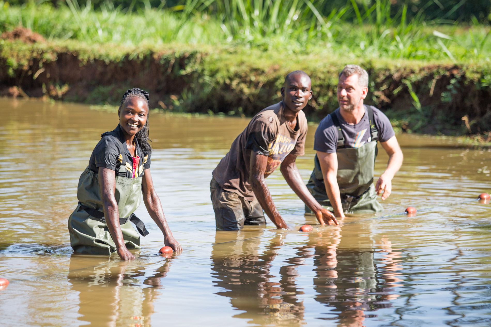 """""""The fish here is not as good as fish from the lake, it's better!"""" - Suzanna, whose family's fish farm in Vihiga, western Kenya, is receiving support from Farm Africa"""