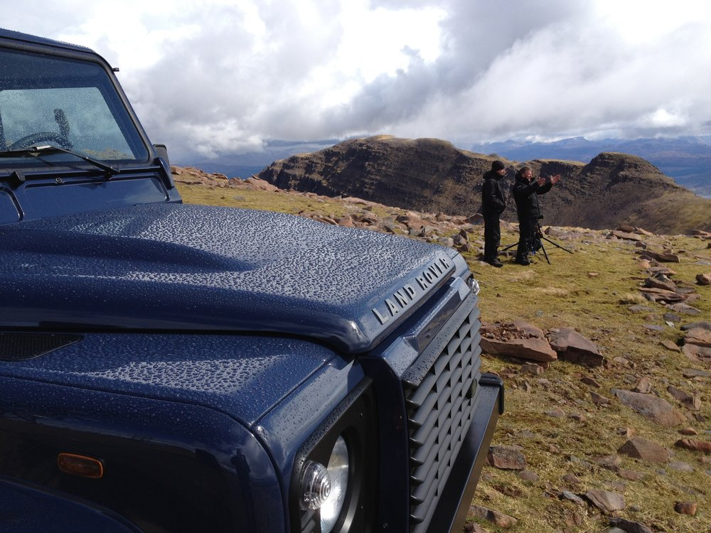 Behind the scenes photo from Luke Jackson Location Manager for Landrover