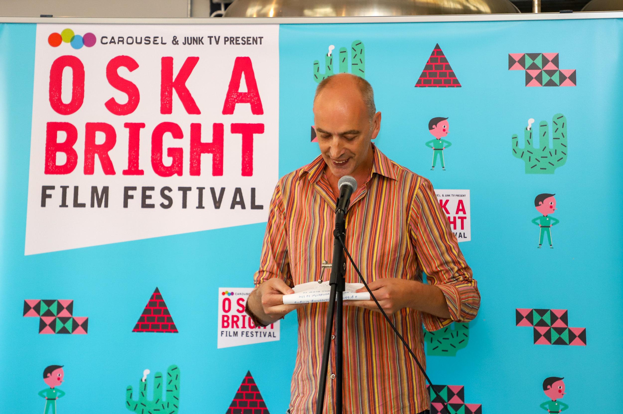 Matthew Hellett speaks at Oska Bright Film Festival Programme Launch
